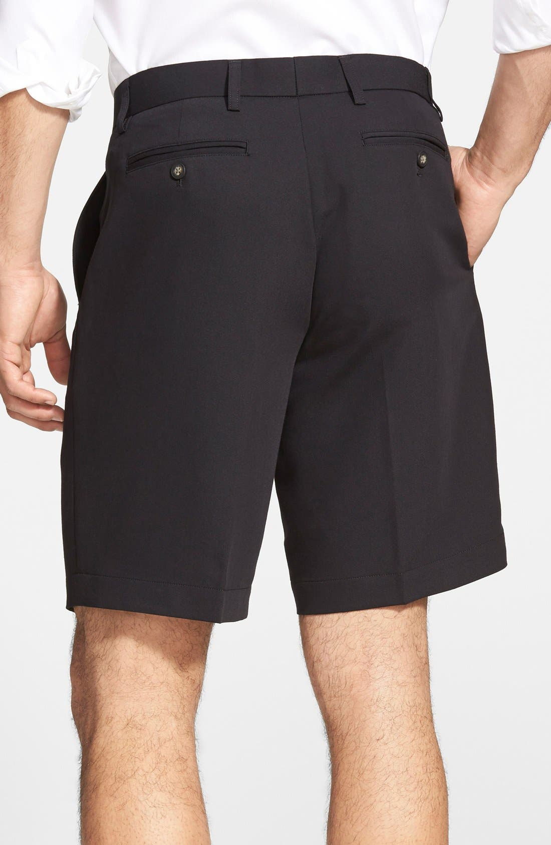 Microfiber Twill Shorts,                             Alternate thumbnail 3, color,                             001