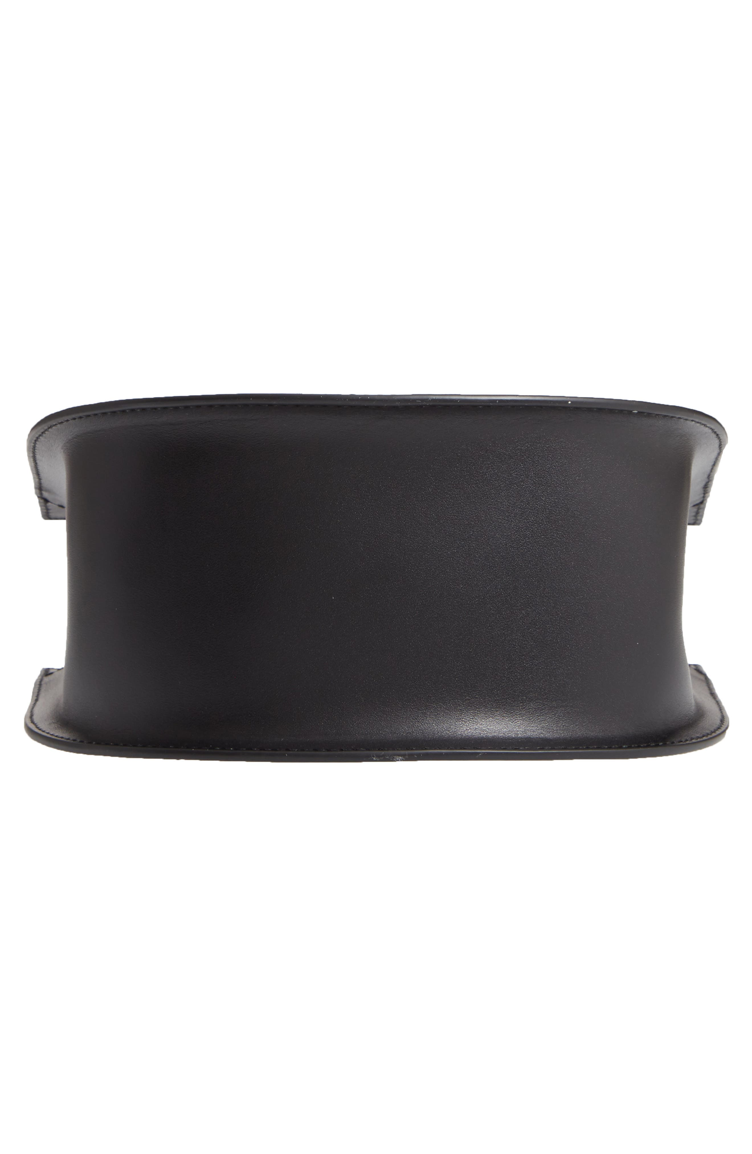 Dome Leather Wristlet,                             Alternate thumbnail 6, color,                             TRUE BLACK
