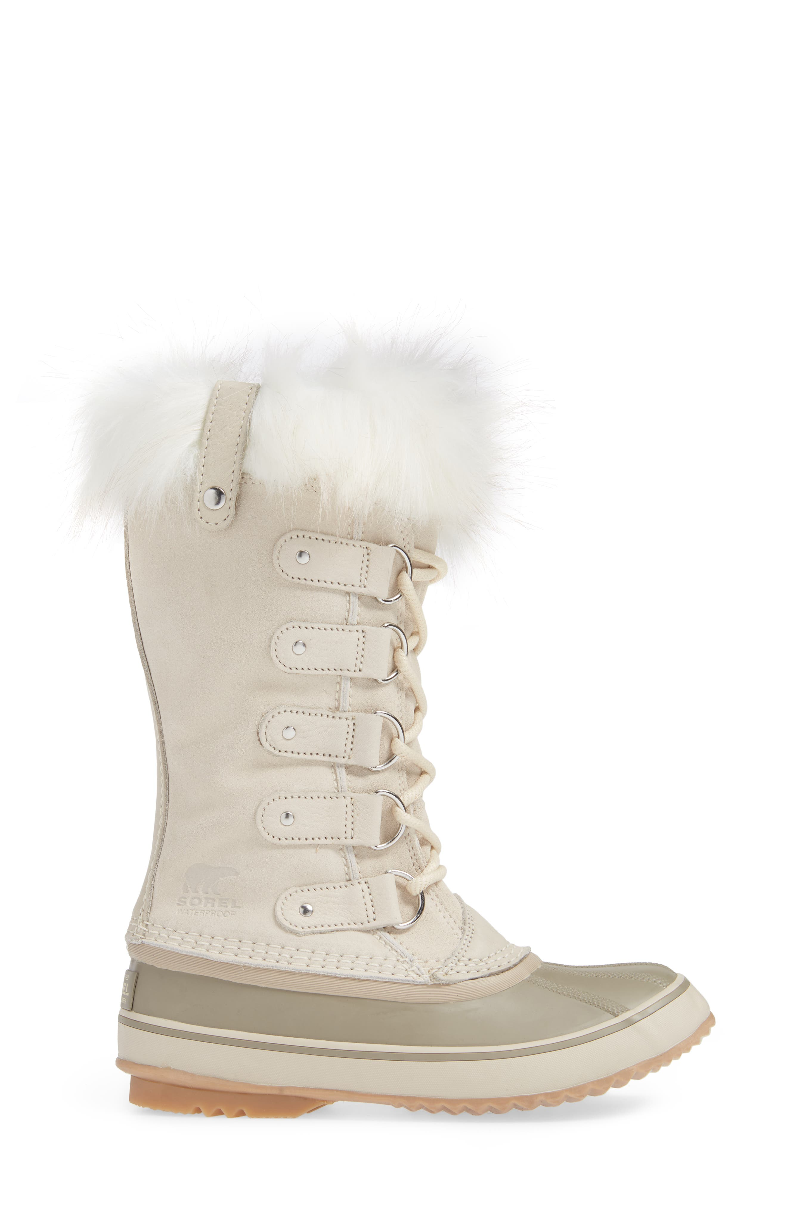 'Joan of Arctic' Waterproof Snow Boot,                             Alternate thumbnail 3, color,                             FAWN