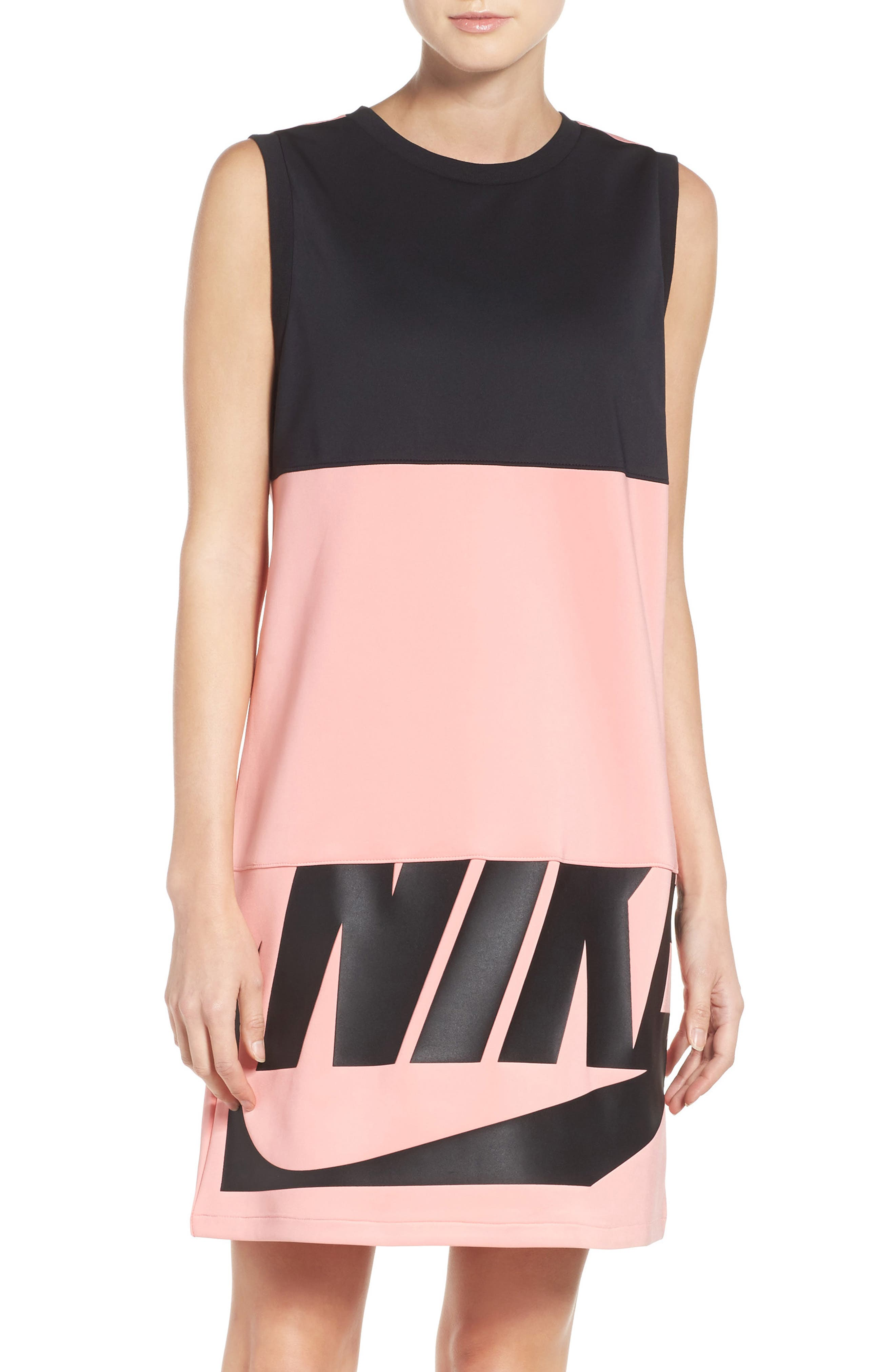 NIKE,                             Irreverent Tank Dress,                             Main thumbnail 1, color,                             010