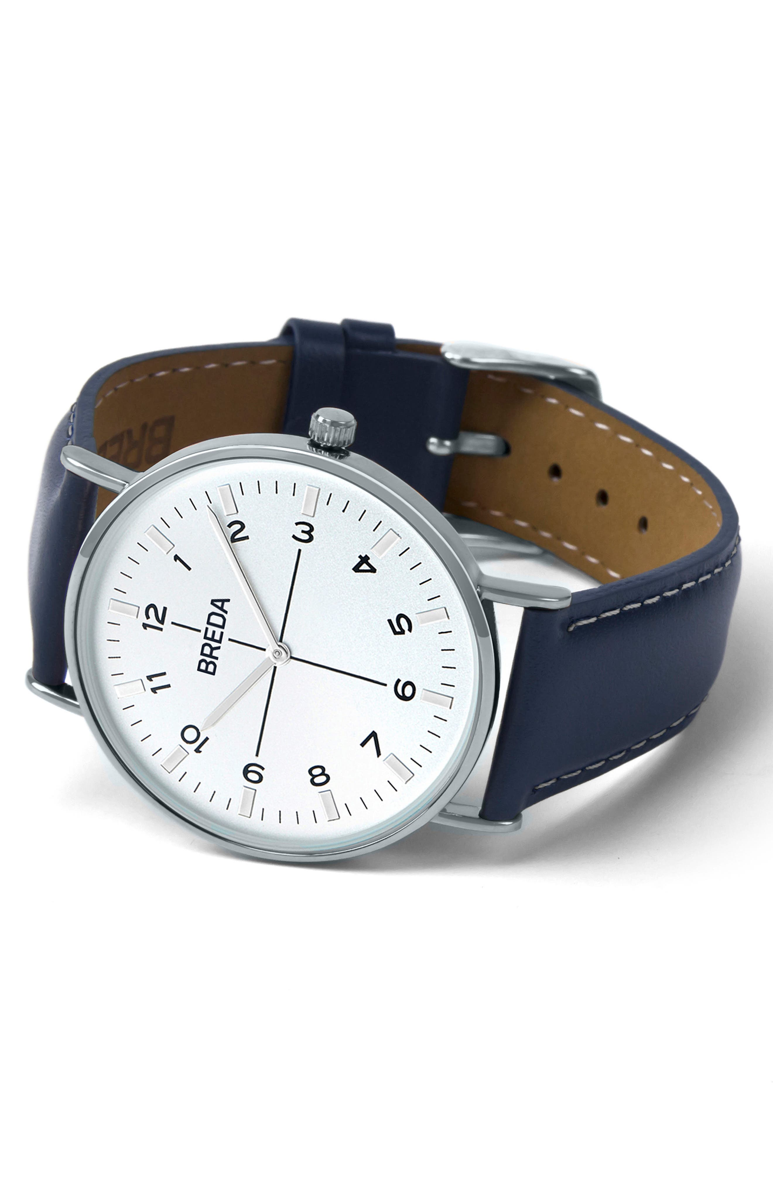 Belmont Slim Leather Strap Watch, 40mm,                             Alternate thumbnail 2, color,                             400