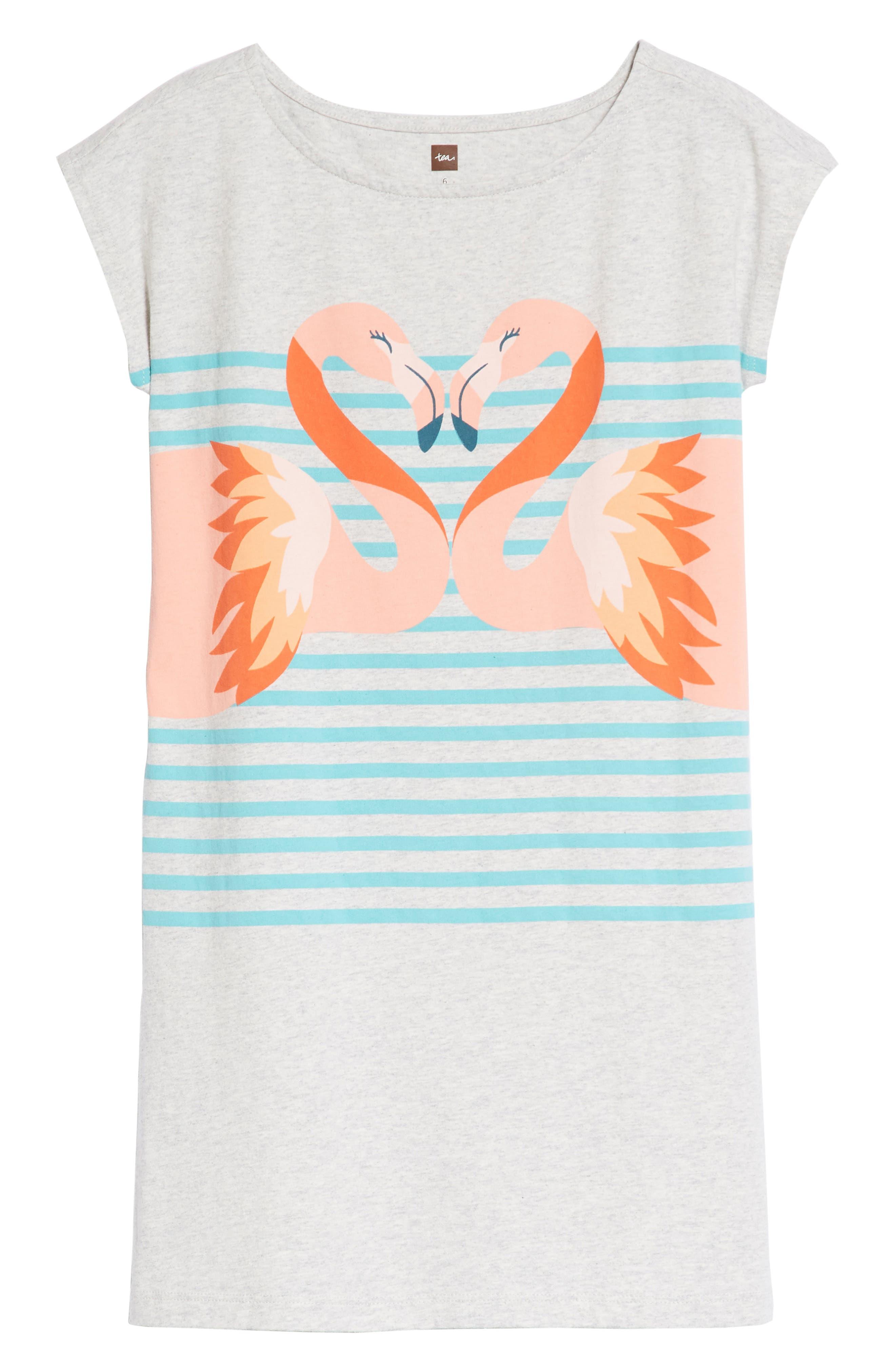 Flamingo T-Shirt Dress,                         Main,                         color, 100