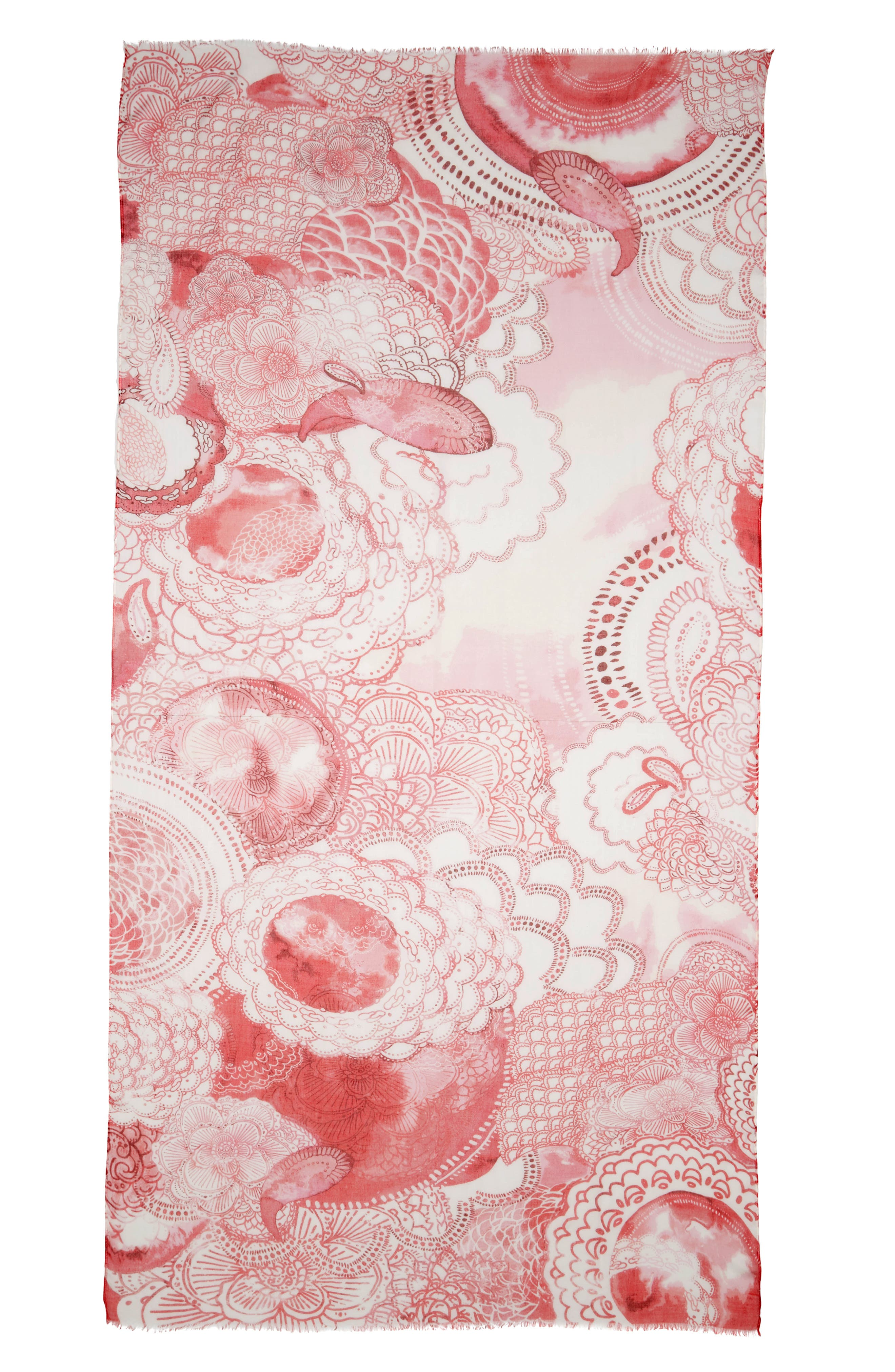 Print Modal & Silk Scarf,                             Alternate thumbnail 37, color,