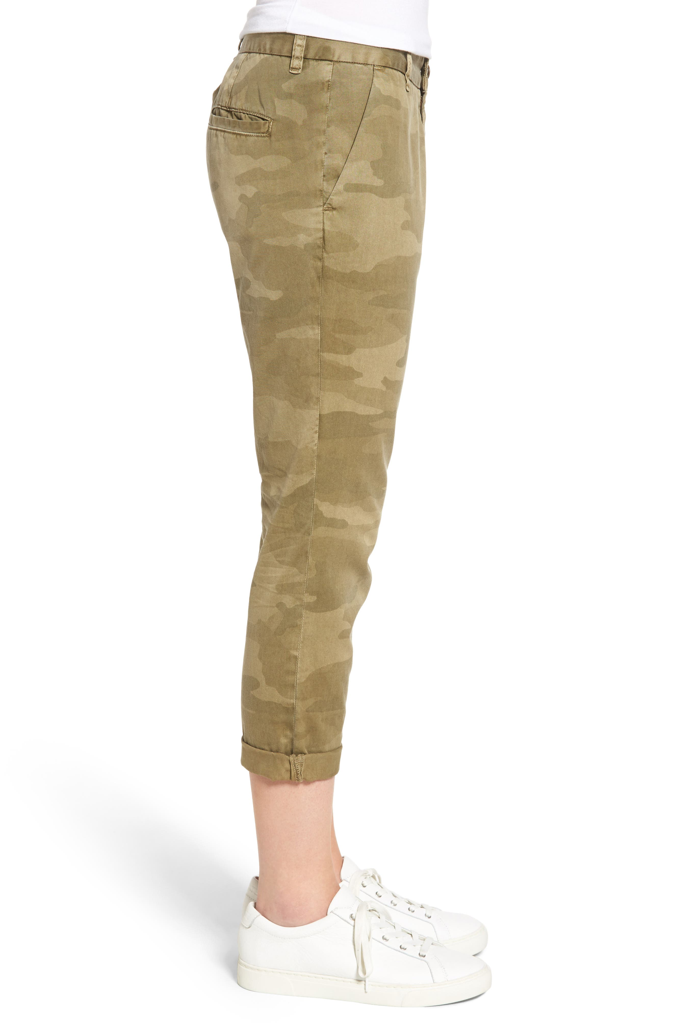 'The Buddy' Print Twill Trousers,                             Alternate thumbnail 3, color,                             314