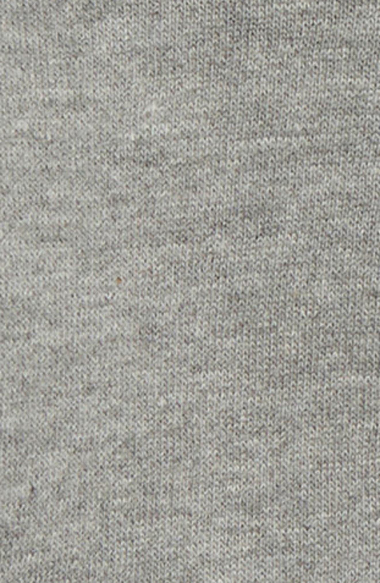 Air Hooded Fleece Romper,                             Alternate thumbnail 2, color,                             DK GREY HEATHER