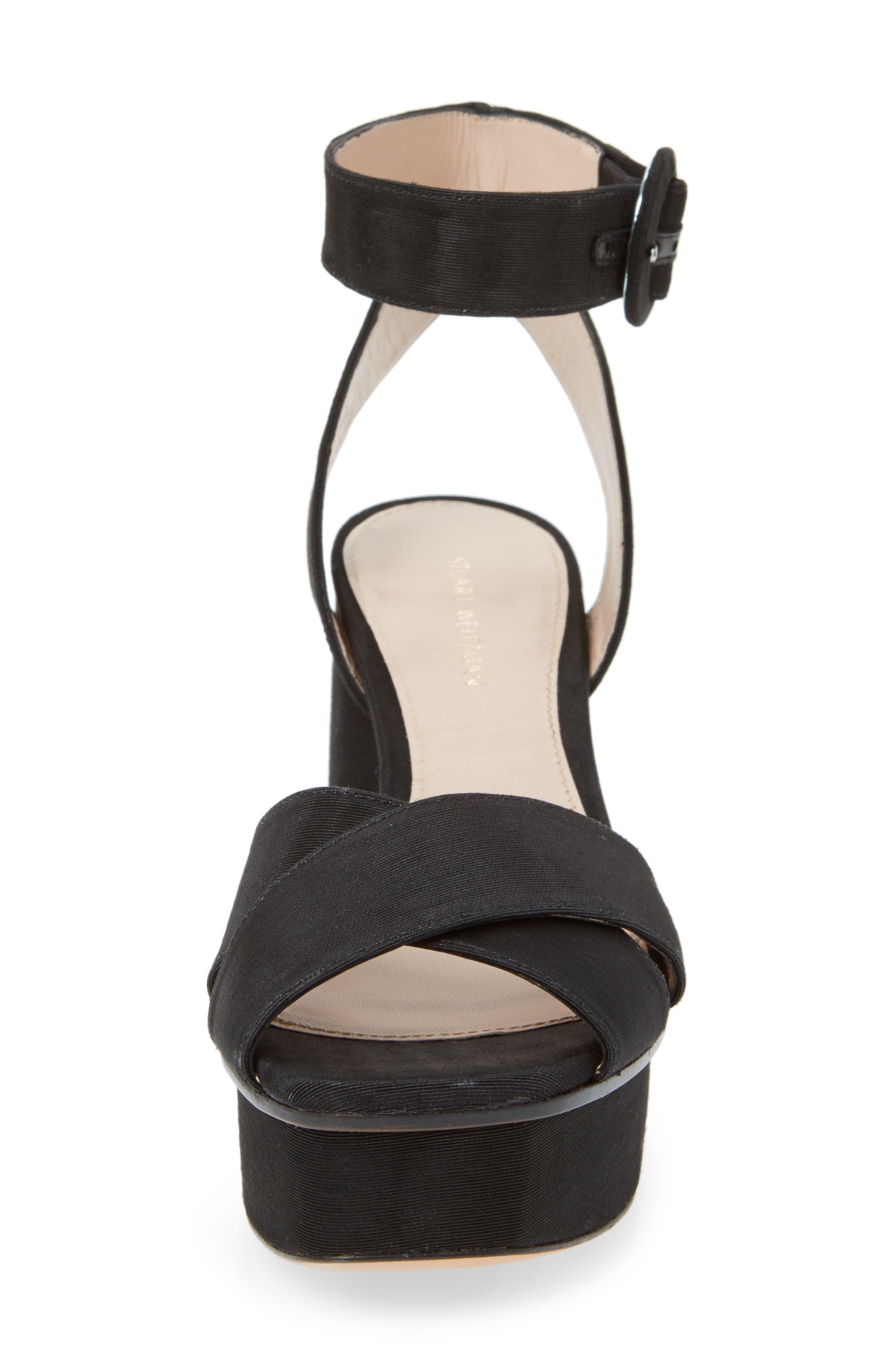 Carmina Ankle Strap Platform Sandal,                             Alternate thumbnail 4, color,                             001