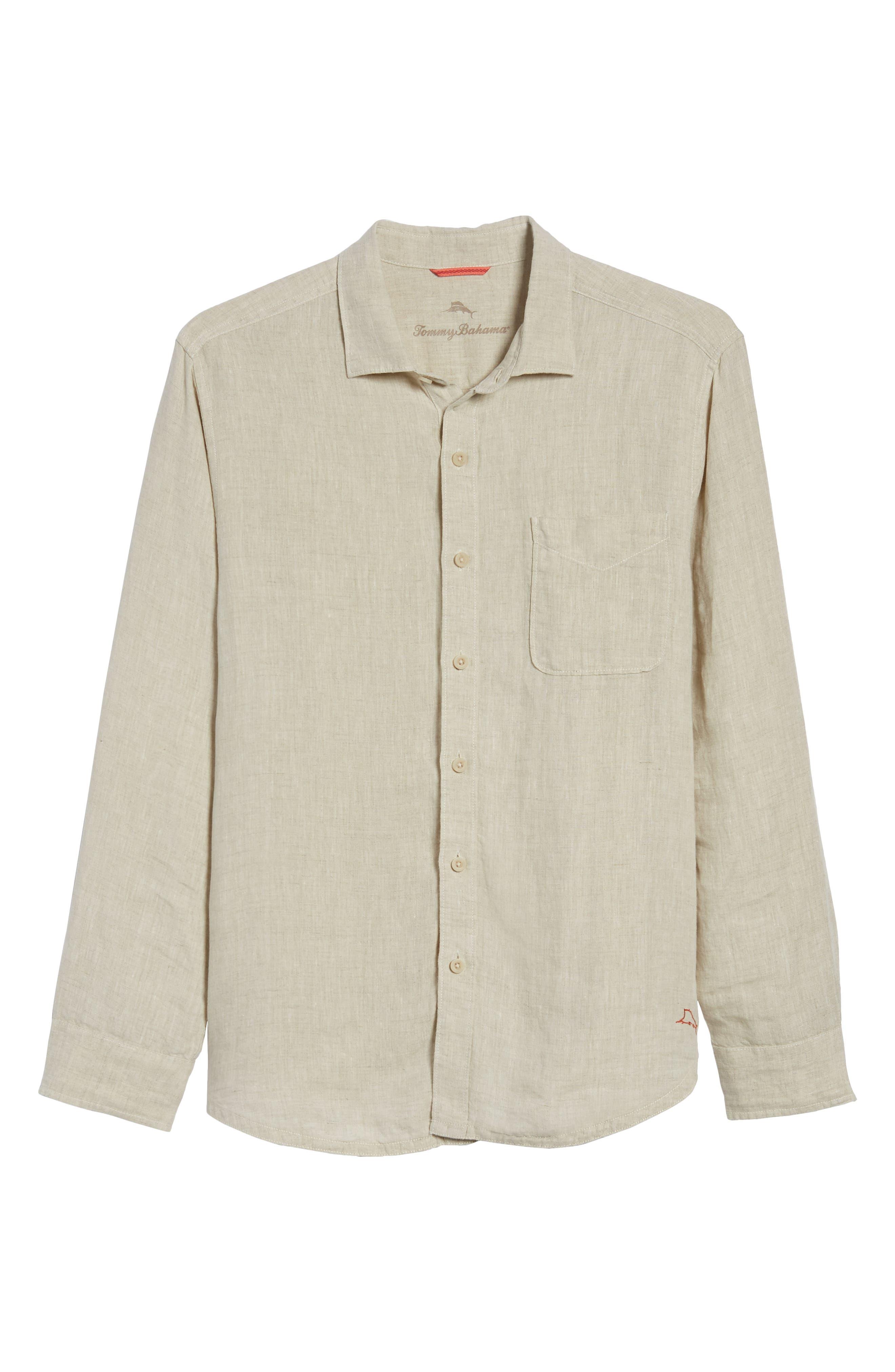Seaspray Breezer Linen Shirt,                             Alternate thumbnail 22, color,
