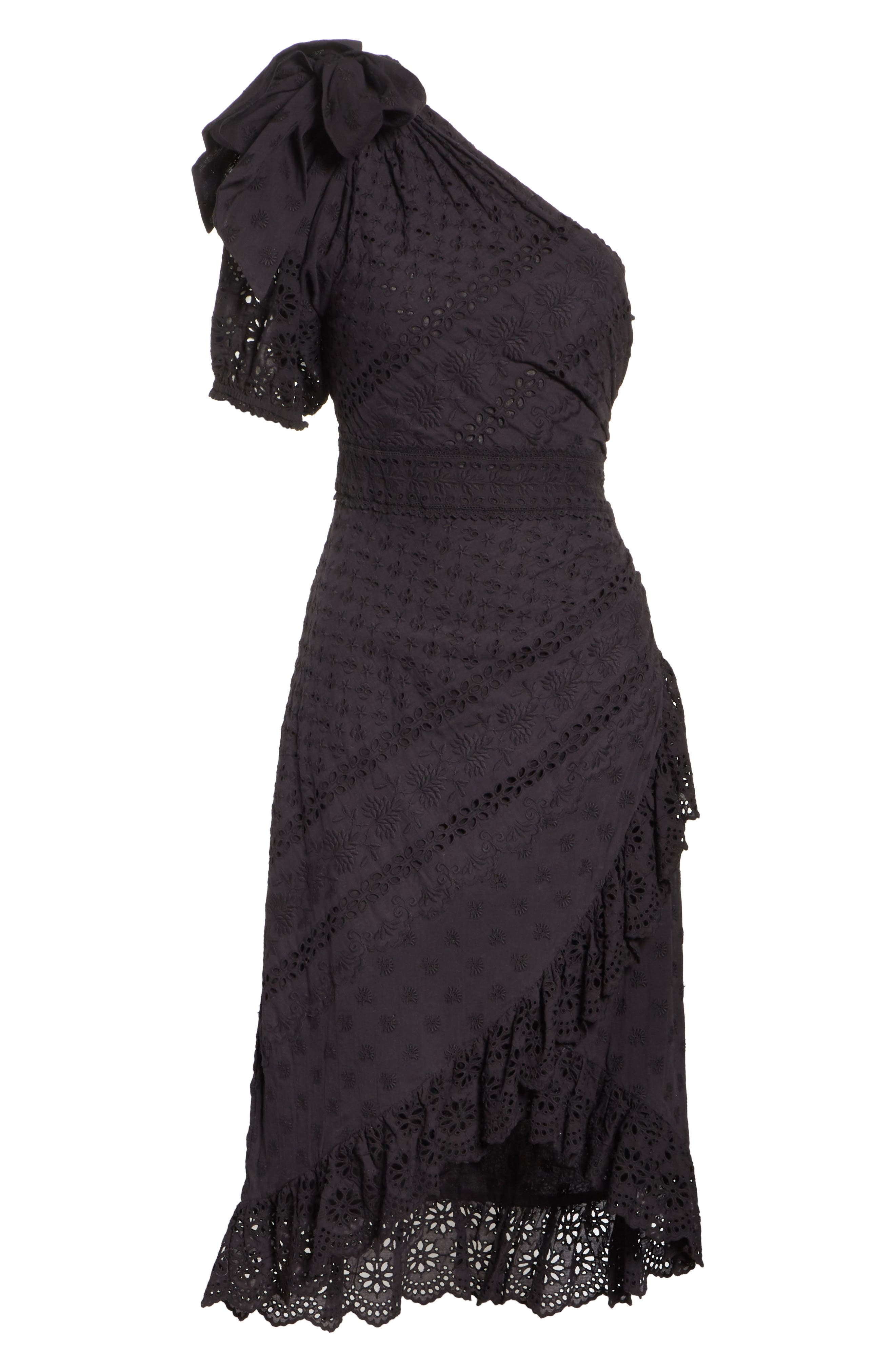 Gweneth One-Shoulder Dress,                             Alternate thumbnail 6, color,