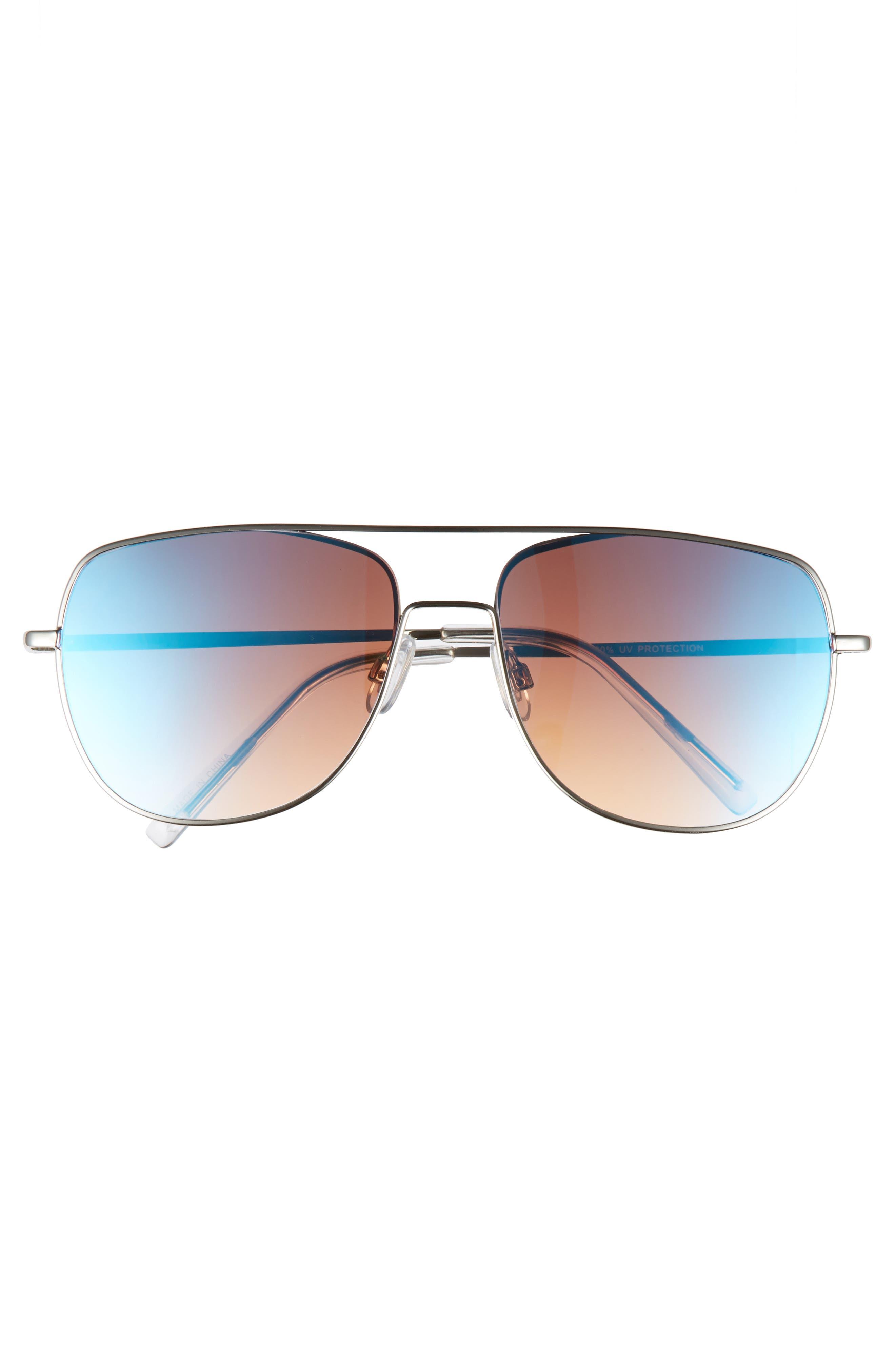 58mm Aviator Sunglasses,                             Alternate thumbnail 3, color,                             040