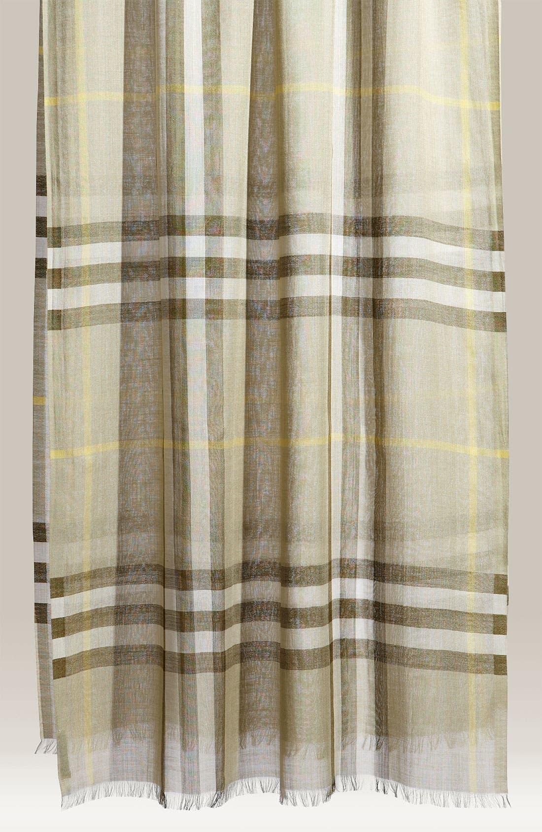Giant Check Print Wool & Silk Scarf,                             Main thumbnail 25, color,