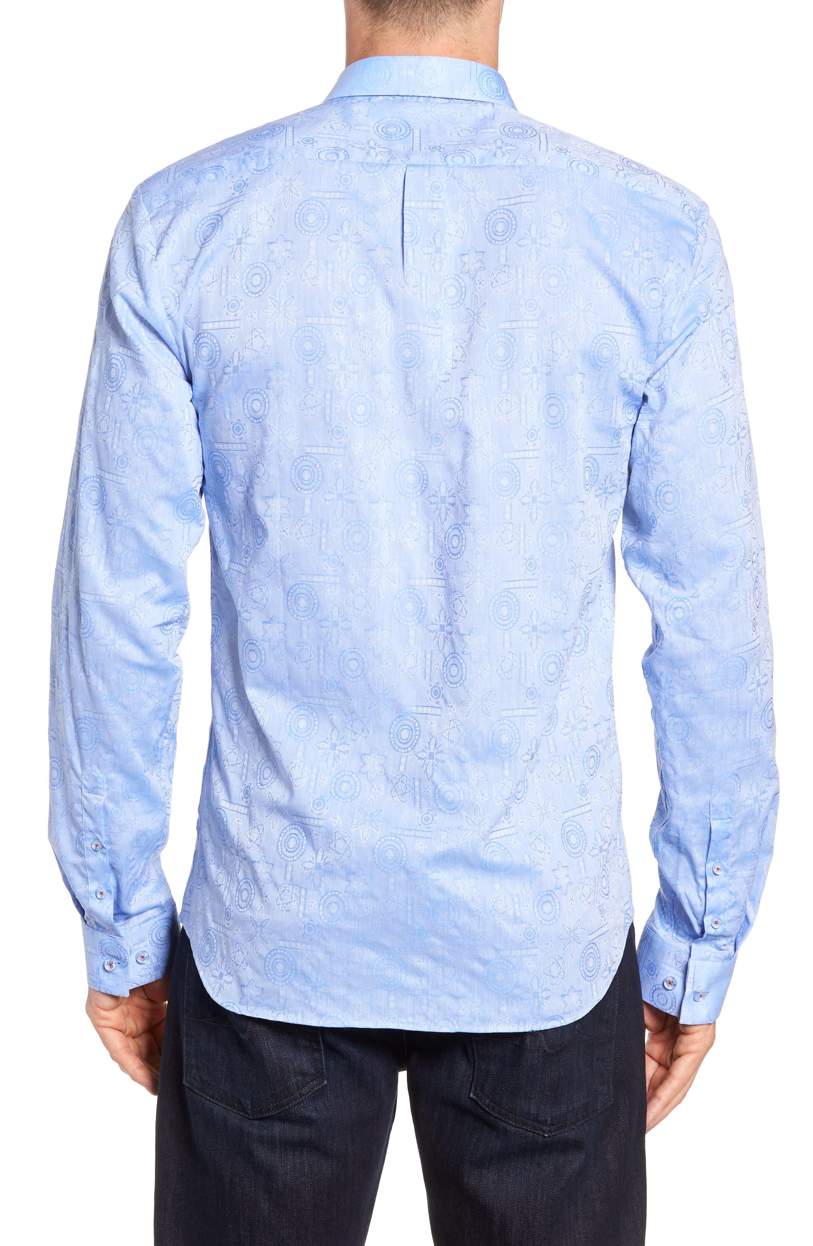 Medallion Jacquard Sport Shirt,                             Alternate thumbnail 3, color,                             450
