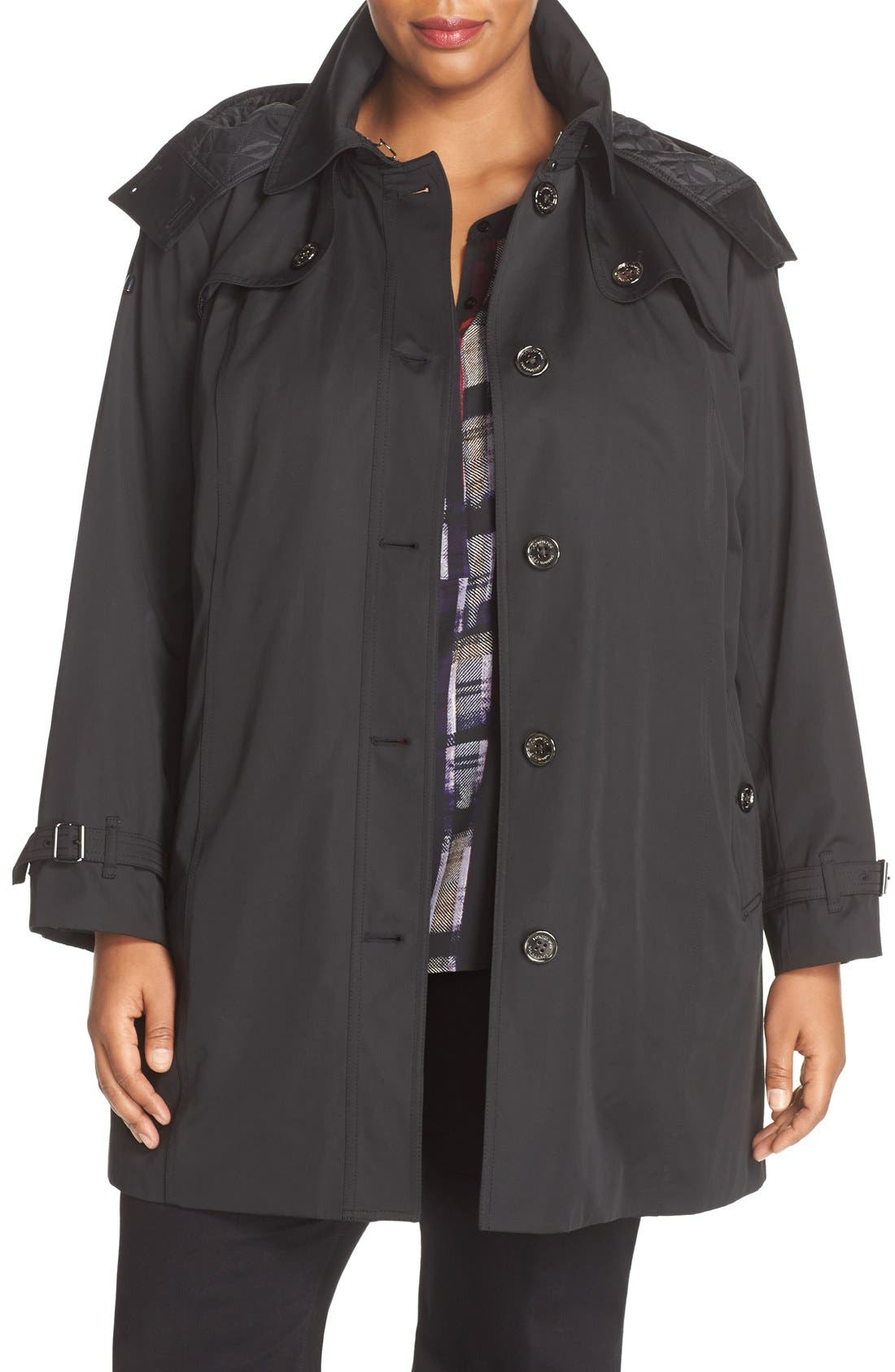 Single Breasted Trench Coat,                             Main thumbnail 2, color,