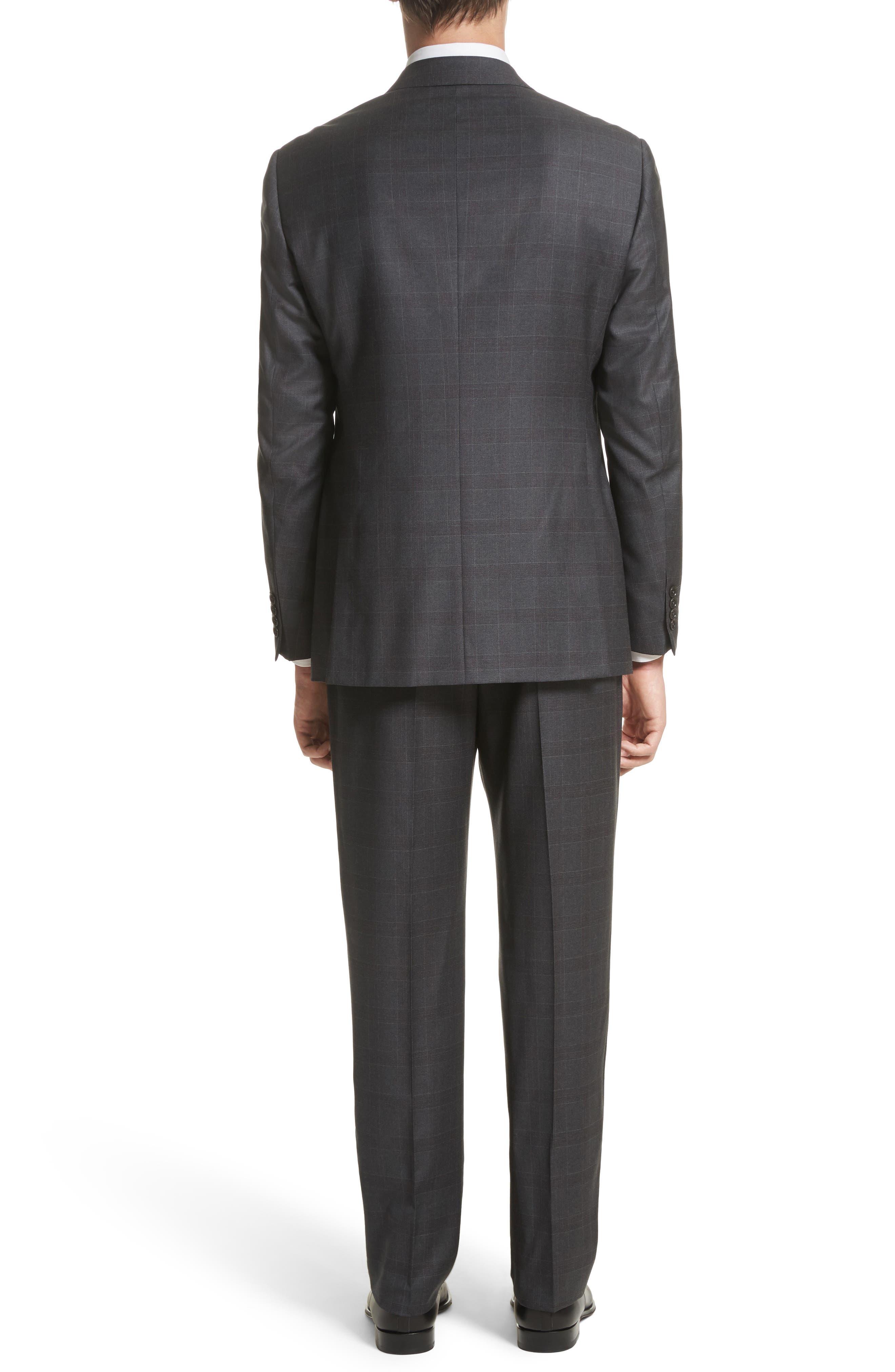 G-Line Trim Fit Plaid Wool Suit,                             Alternate thumbnail 2, color,                             038