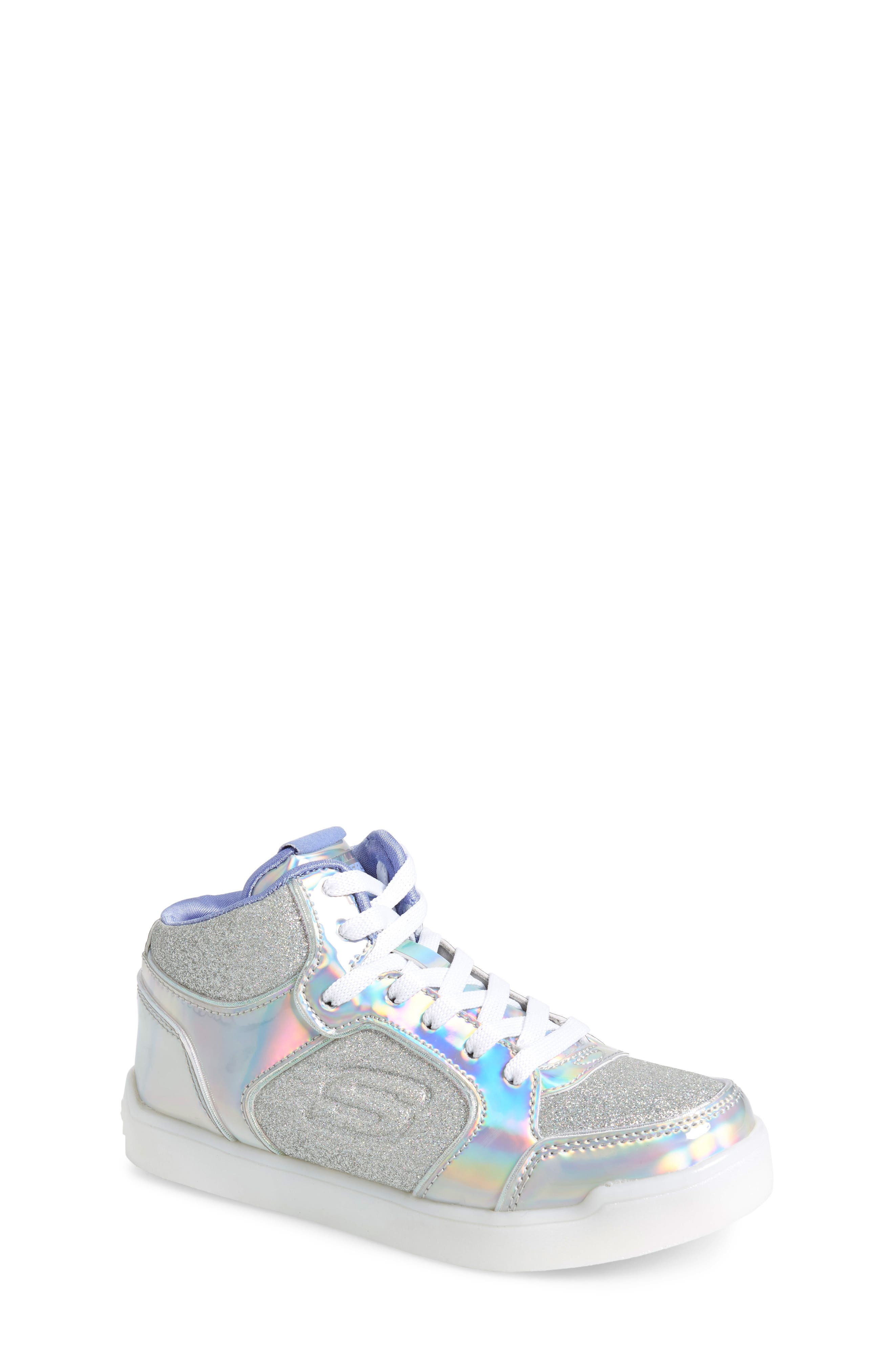 Energy Lights Pro Ultra Light-Up Sneaker,                             Main thumbnail 1, color,                             SILVER