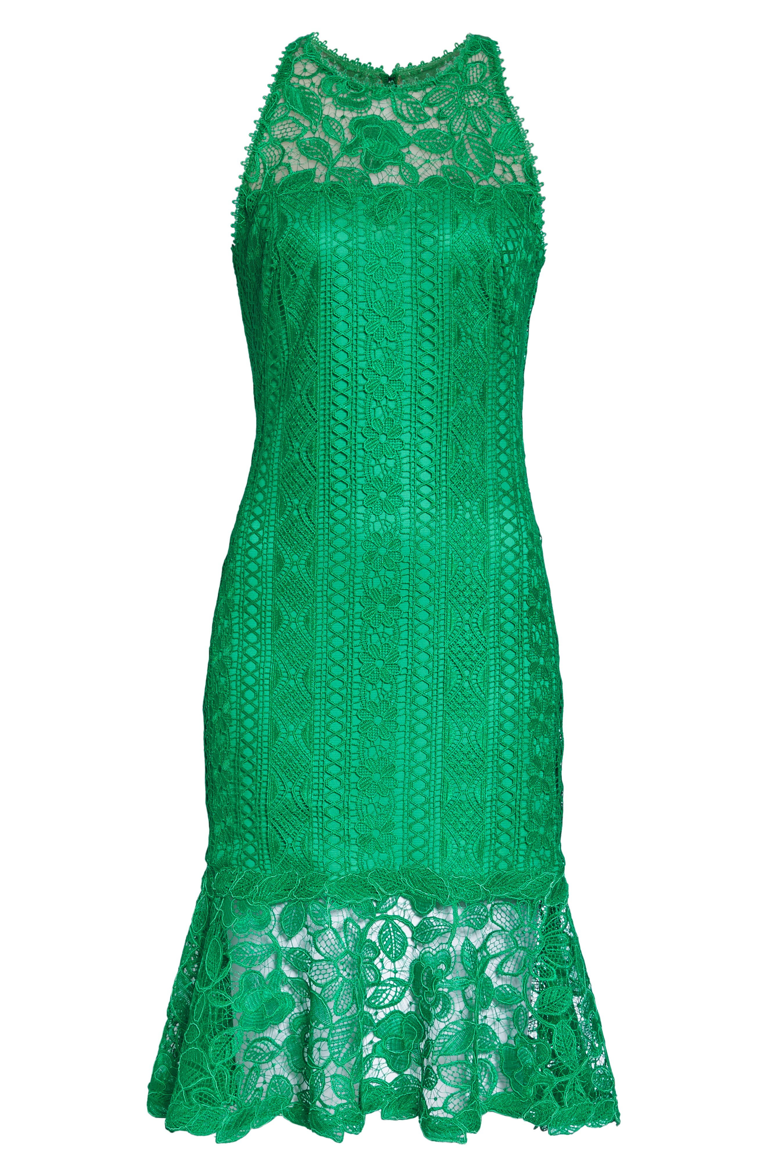 Lace Shift Dress,                             Alternate thumbnail 7, color,                             346