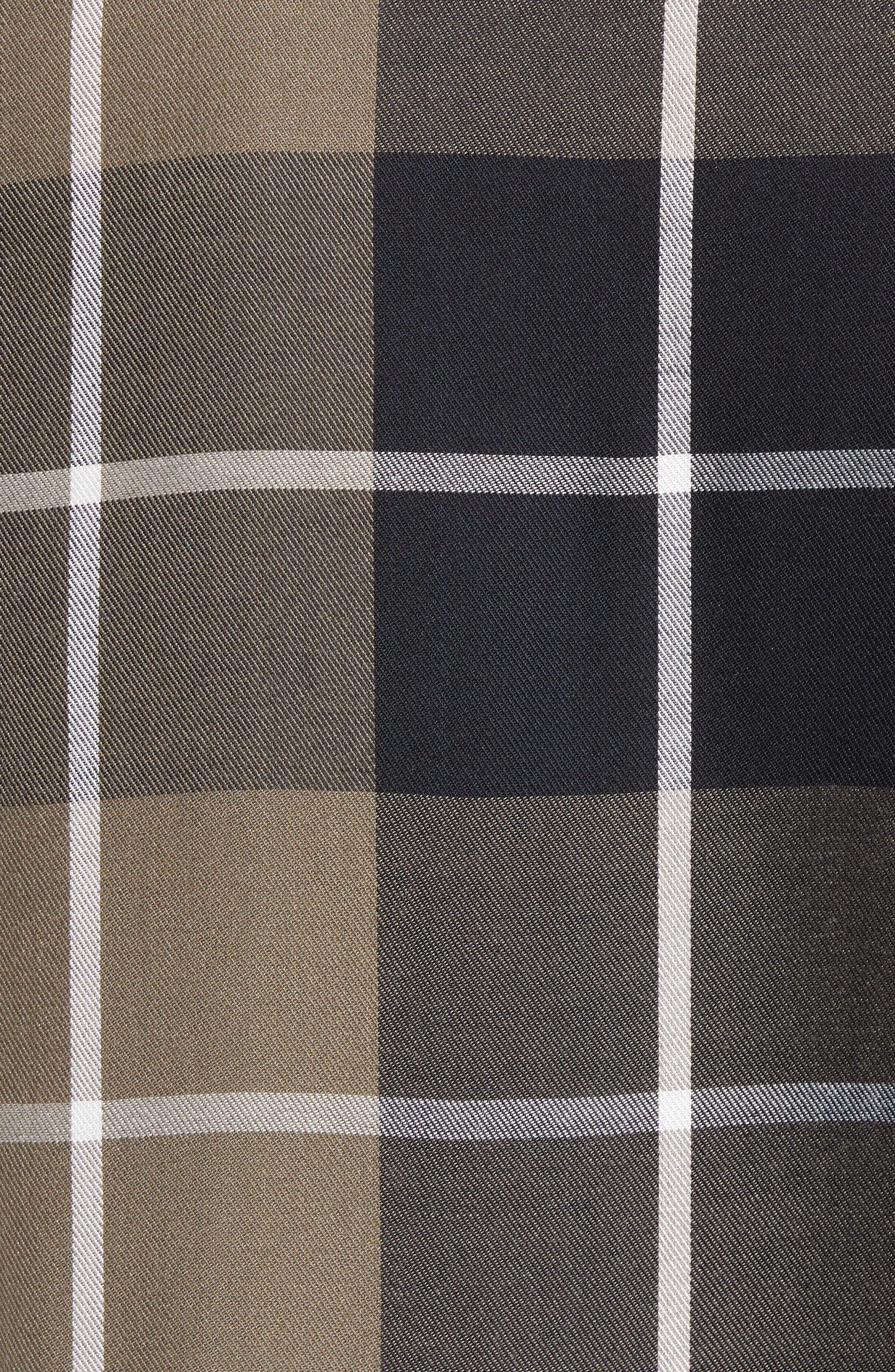 Ruffled Plaid Shirt,                             Alternate thumbnail 6, color,                             001