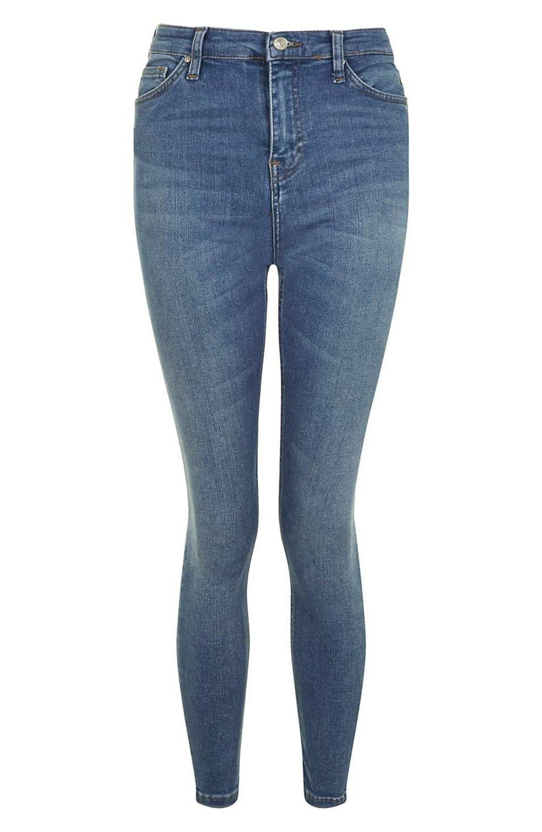 Jamie High Waist Crop Skinny Jeans,                             Alternate thumbnail 6, color,                             400