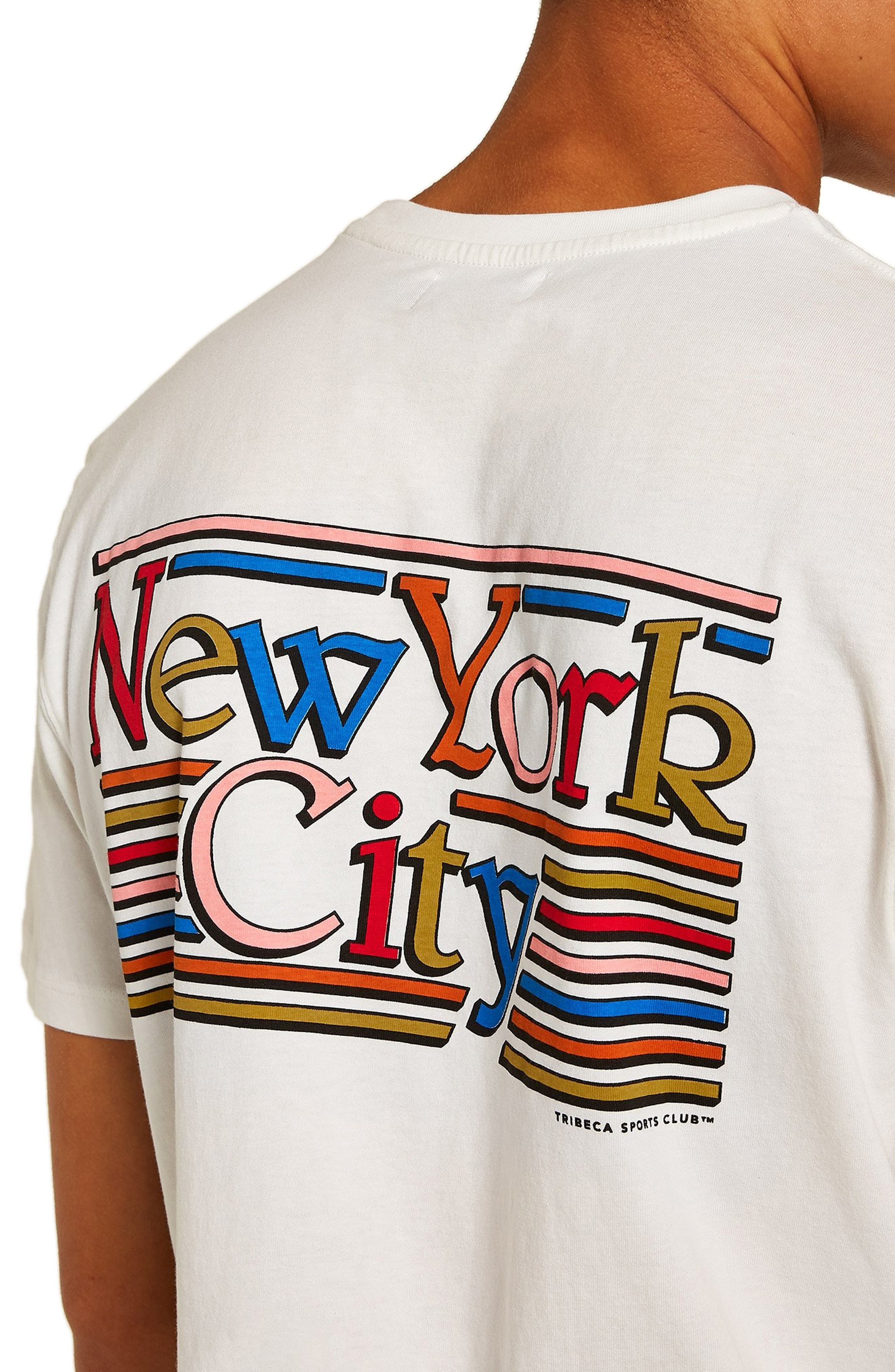 New York City Graphic T-Shirt,                             Alternate thumbnail 3, color,                             CREAM