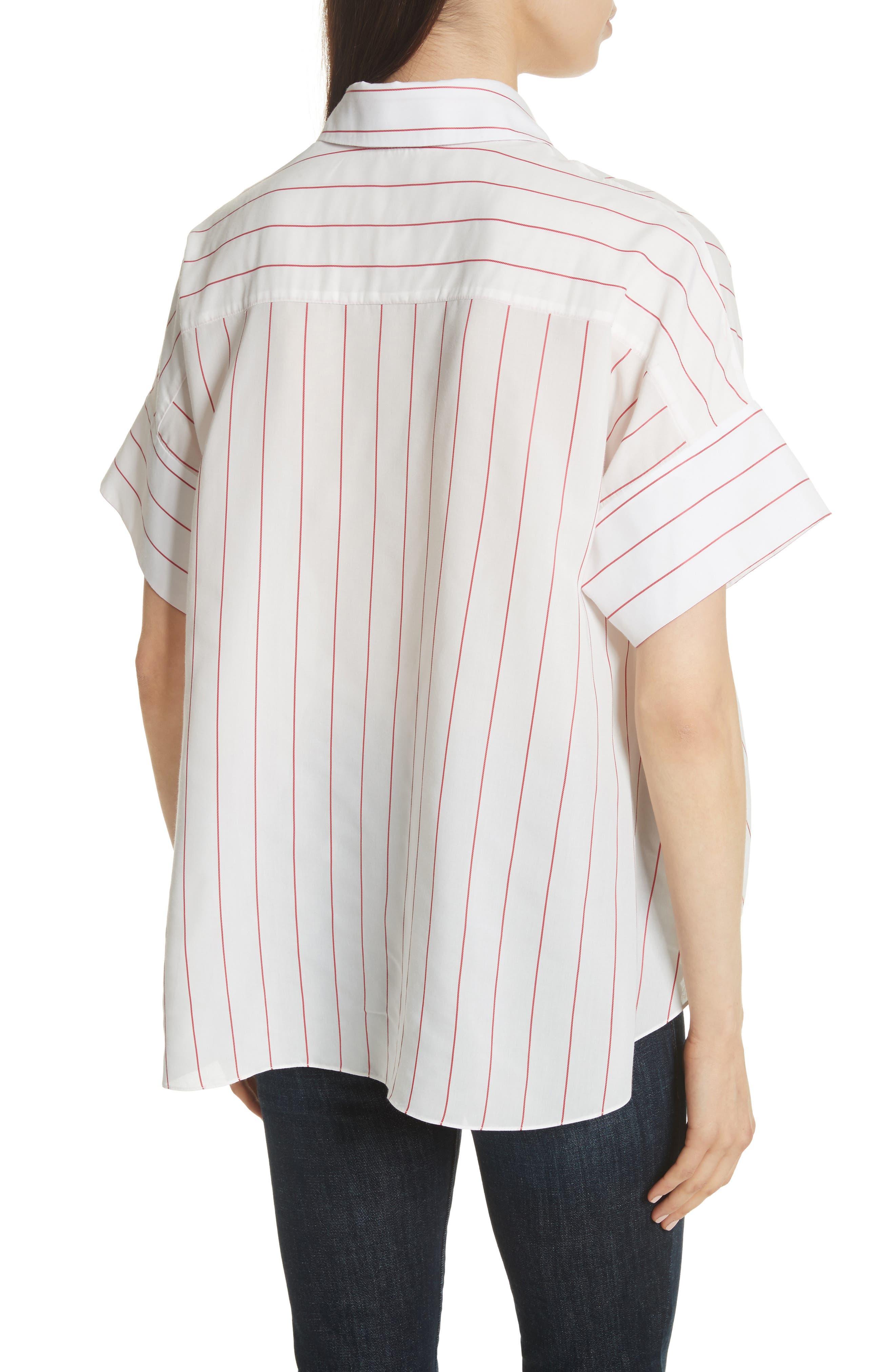Edyth High/Low Button Down Shirt,                             Alternate thumbnail 2, color,                             134