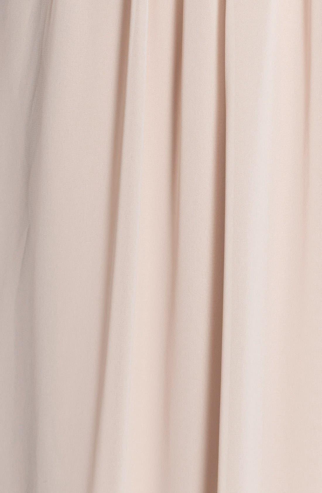 Newbury Gathered Sleeve Chiffon Wrap Gown,                             Alternate thumbnail 27, color,