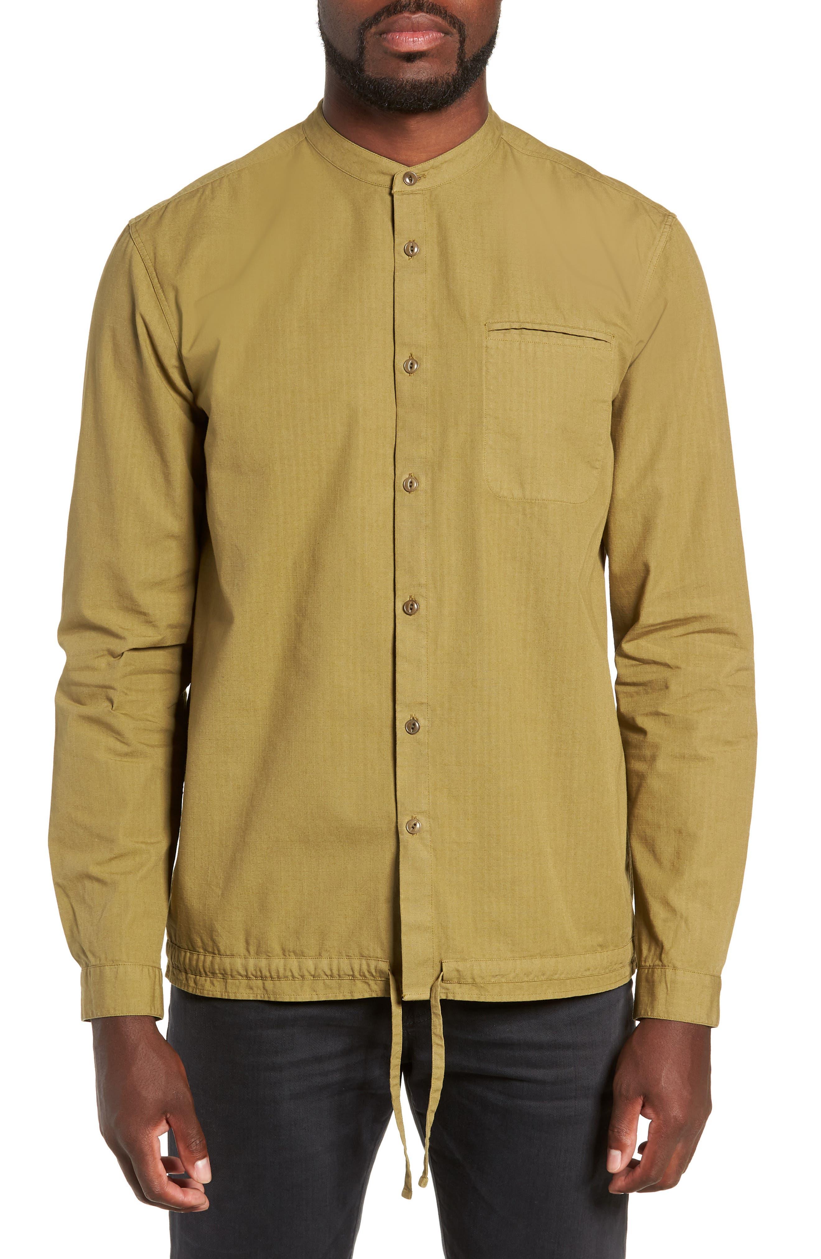 Ripstop Beach Shirt,                             Main thumbnail 1, color,                             GREEN