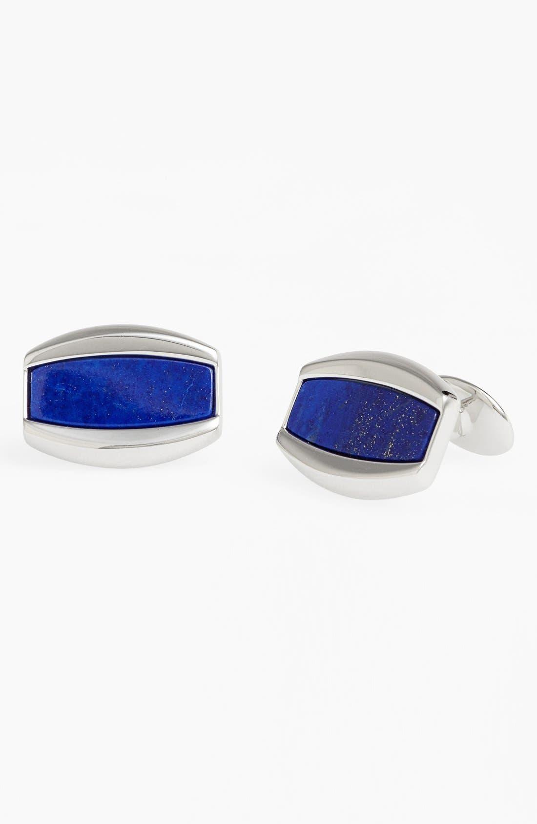 Lapis Lazuli Cuff Links,                             Main thumbnail 1, color,                             SILVER/ BLUE