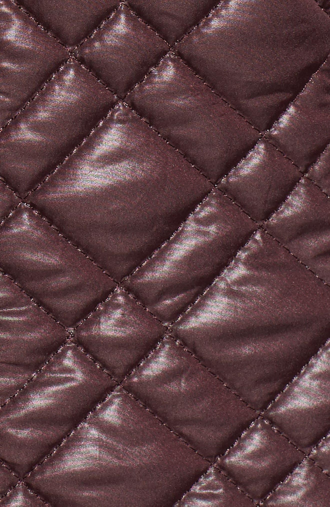 Tassel Detail Hooded Mix Quilt Coat,                             Alternate thumbnail 22, color,