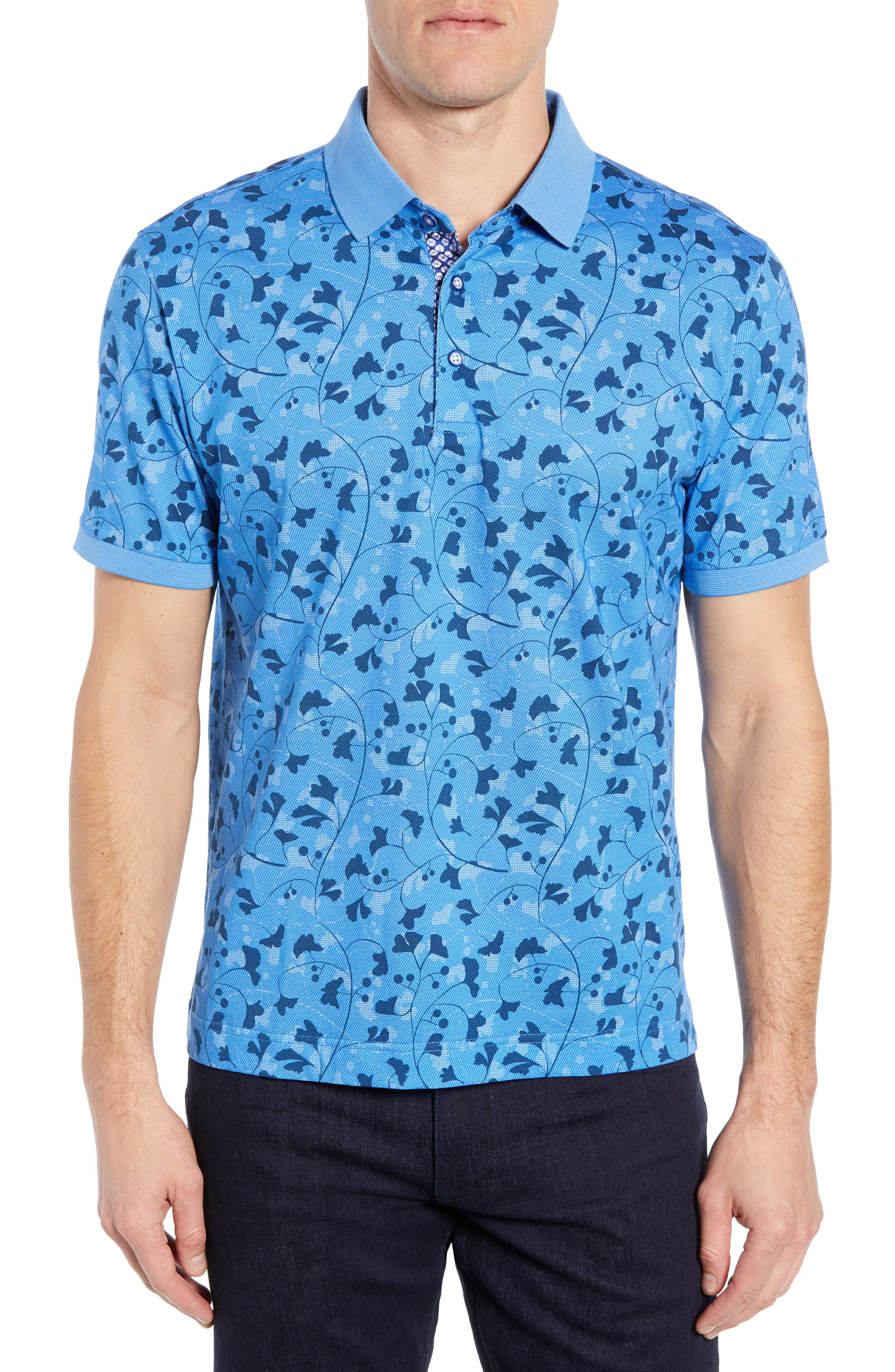 Ginkgo Classic Fit Polo, Main, color, BLUE