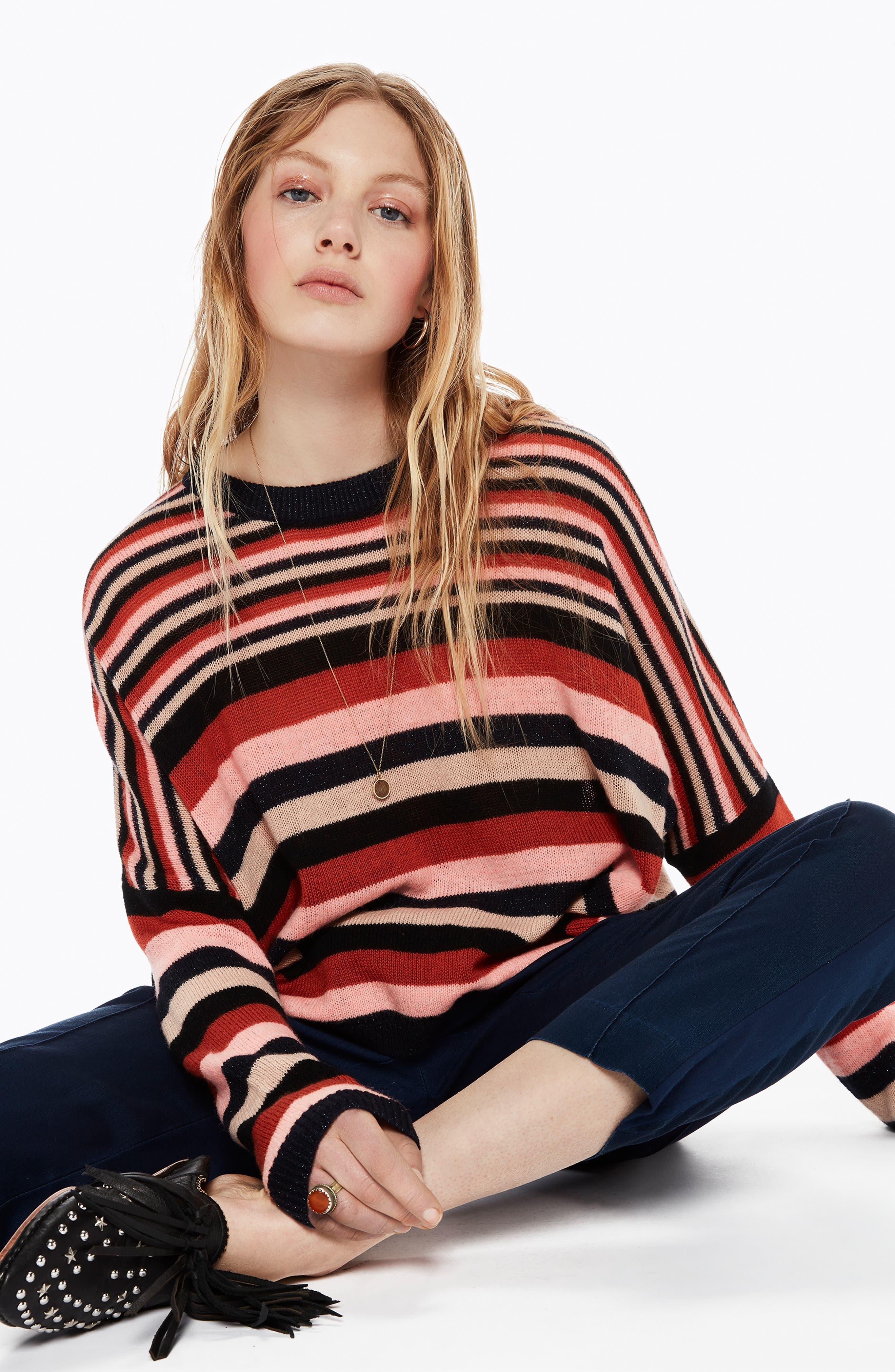 SCOTCH & SODA,                             Stripe Sweater,                             Alternate thumbnail 7, color,                             651