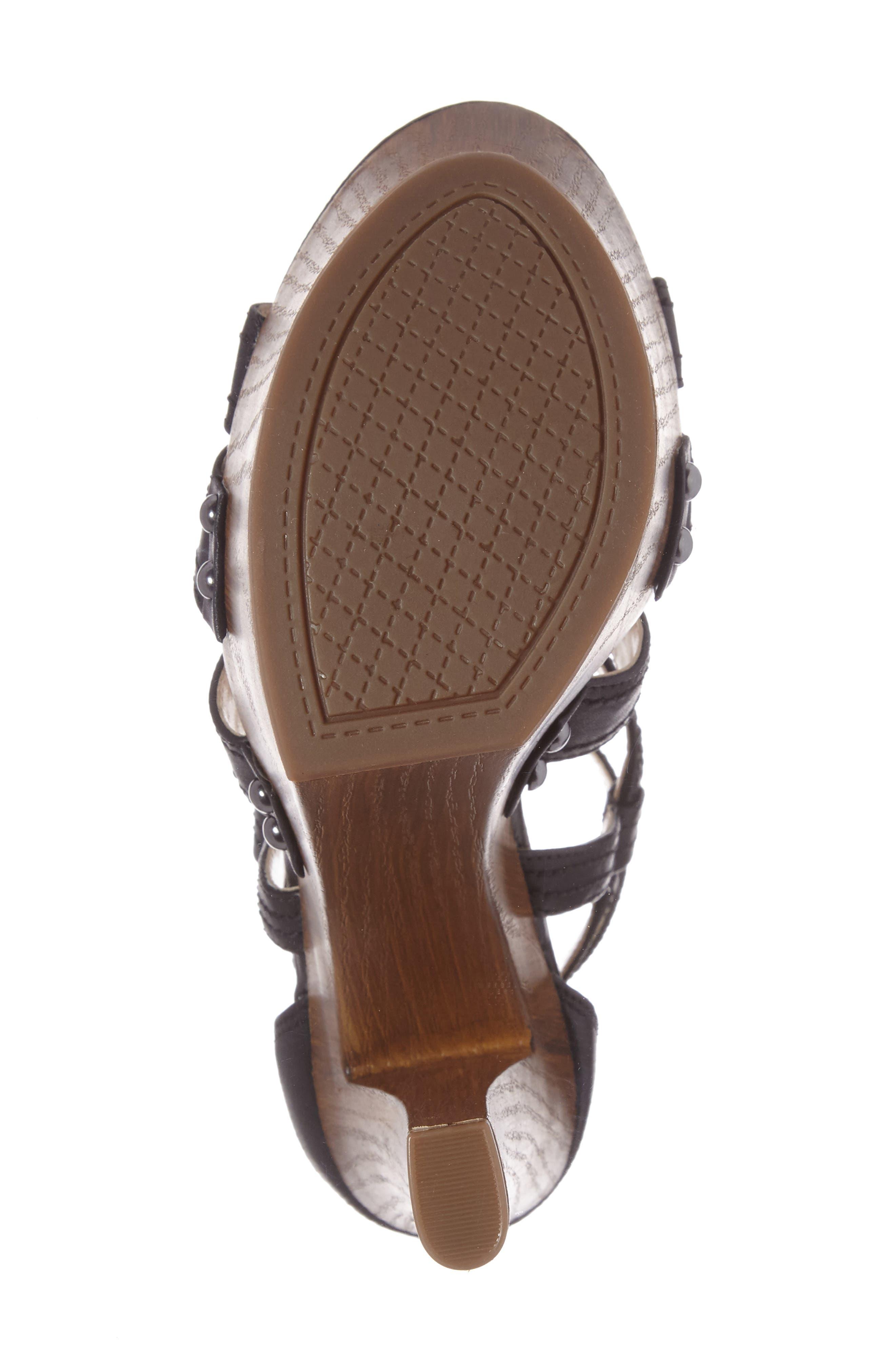 Dorrin Platform Sandal,                             Alternate thumbnail 4, color,                             002