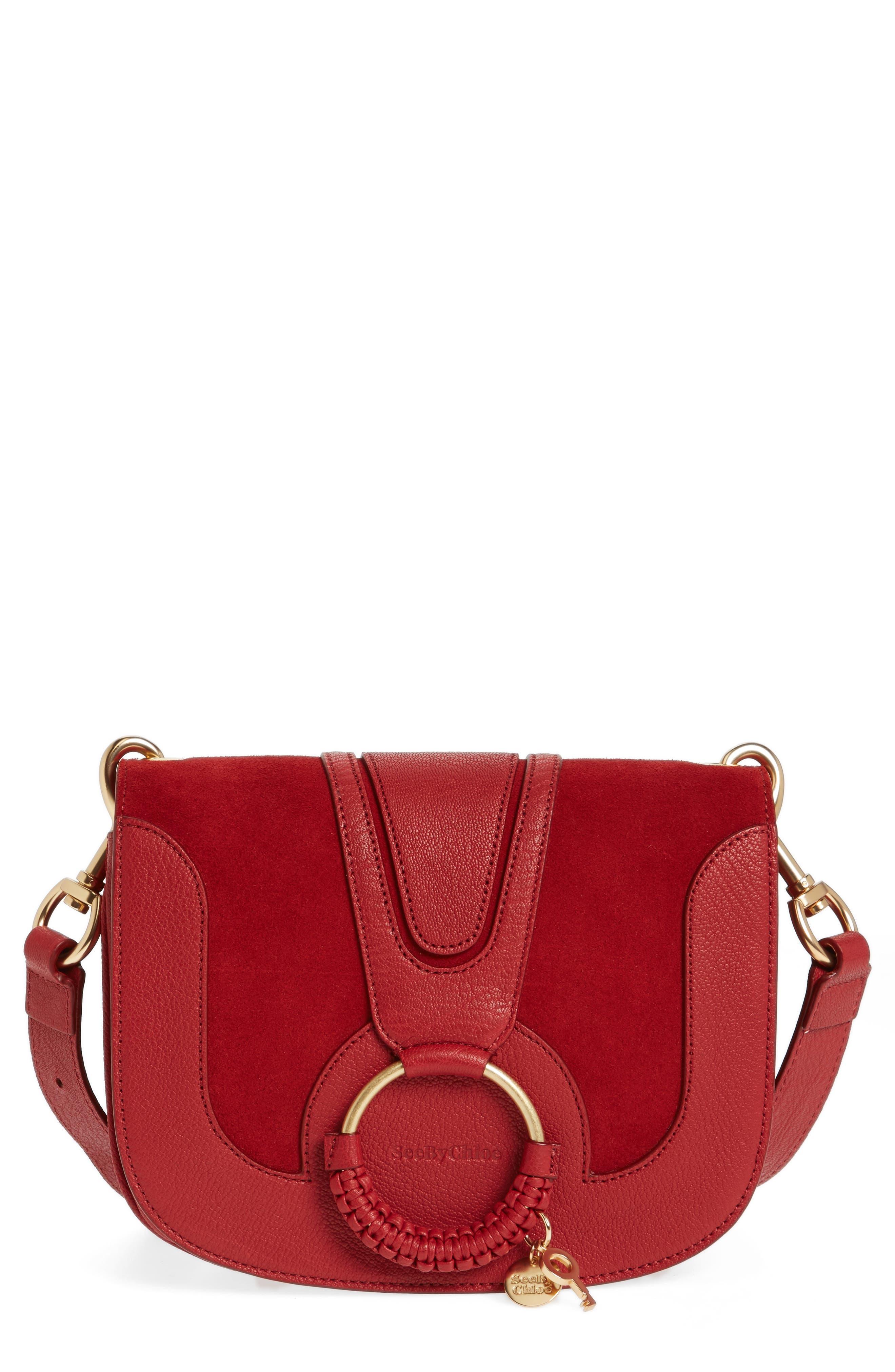 Hana Small Leather Crossbody Bag,                             Main thumbnail 7, color,