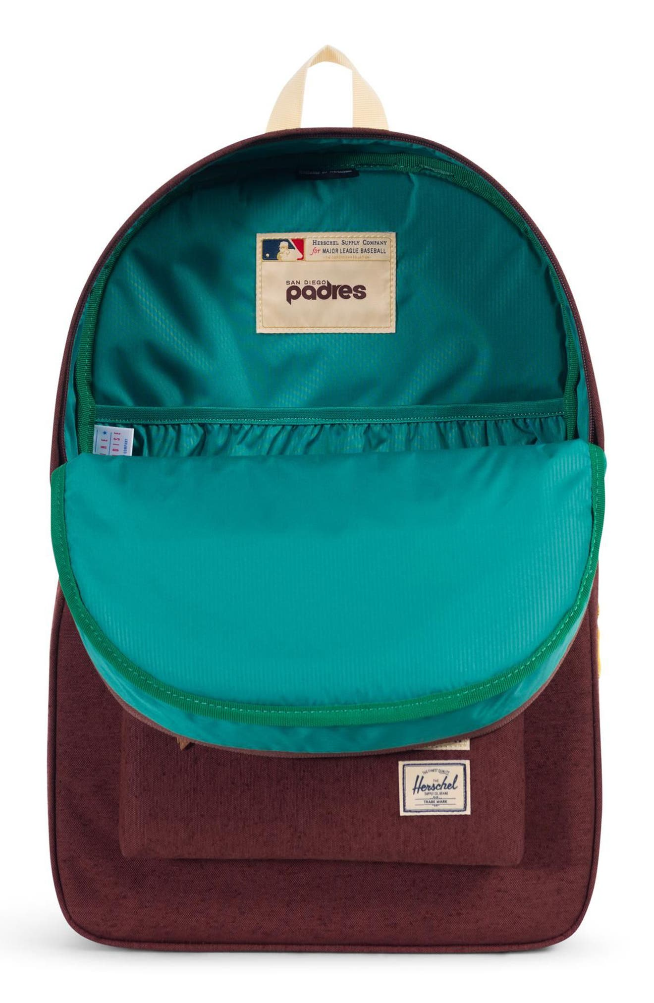 HERSCHEL SUPPLY CO.,                             Heritage - MLB Cooperstown Collection Backpack,                             Alternate thumbnail 3, color,                             SAN DIEGO PADRES