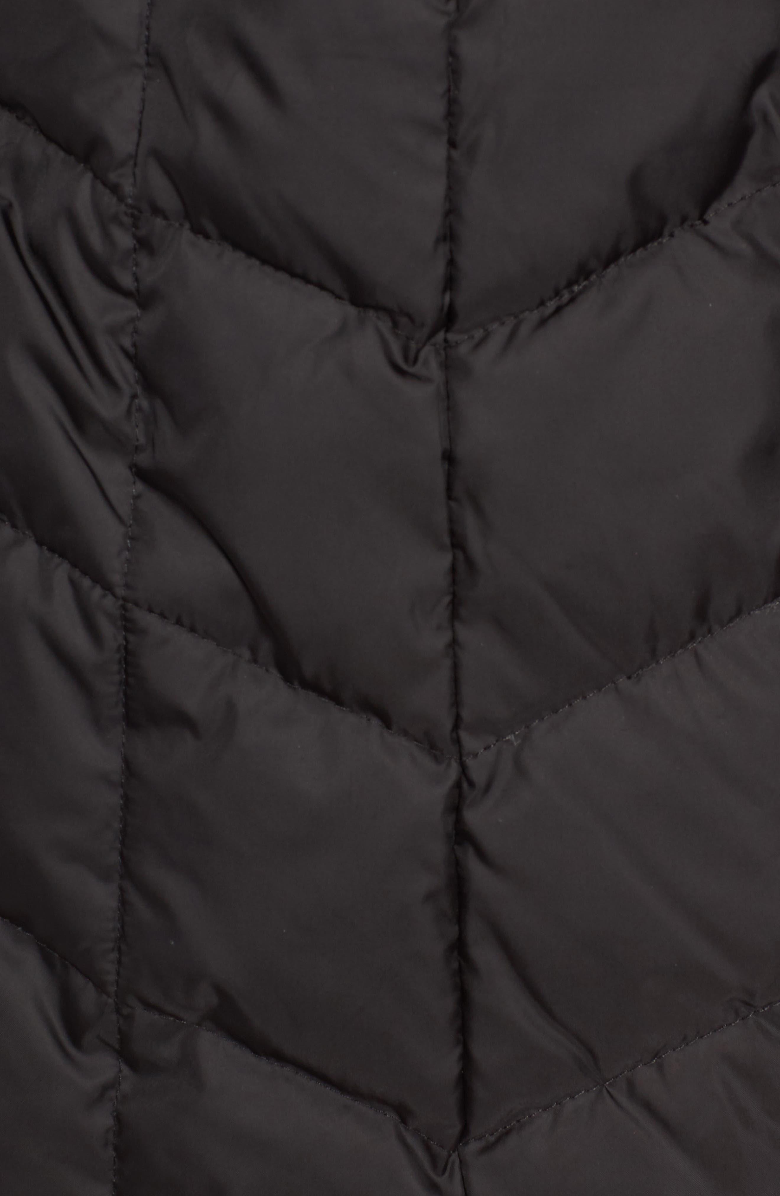 Marley 30 Coat with Detachable Faux Fur,                             Alternate thumbnail 6, color,                             001