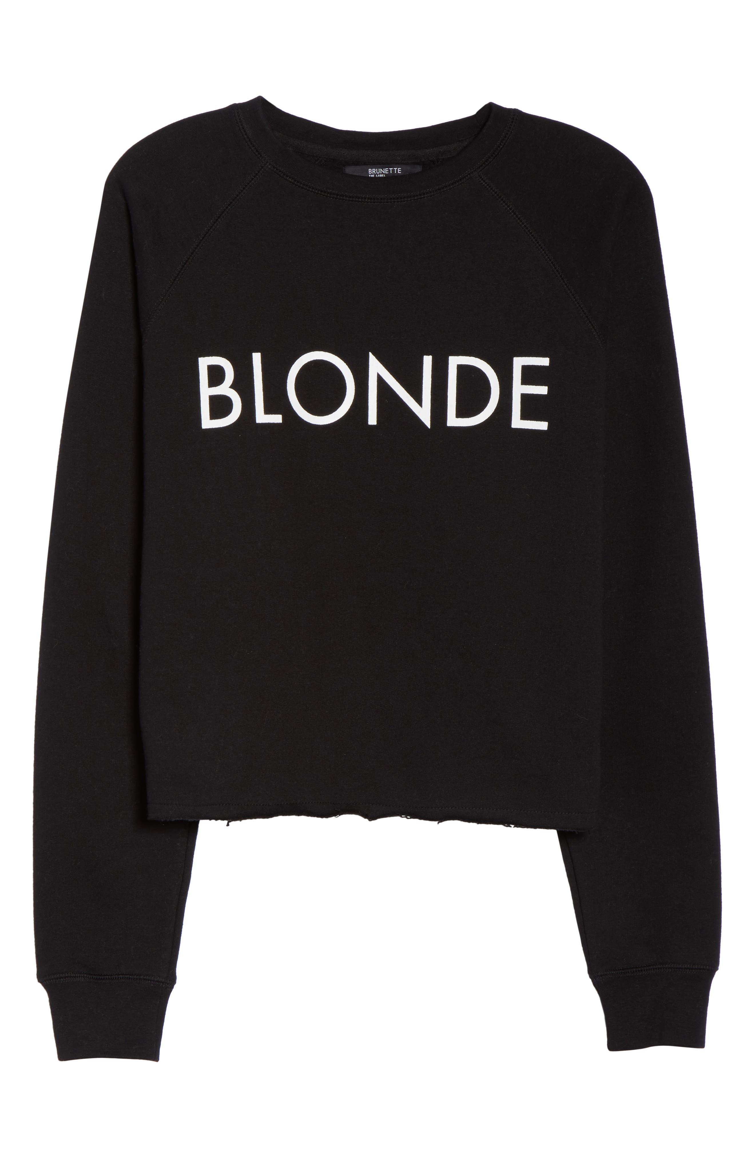 Blonde Raw Hem Sweatshirt,                             Alternate thumbnail 6, color,                             005