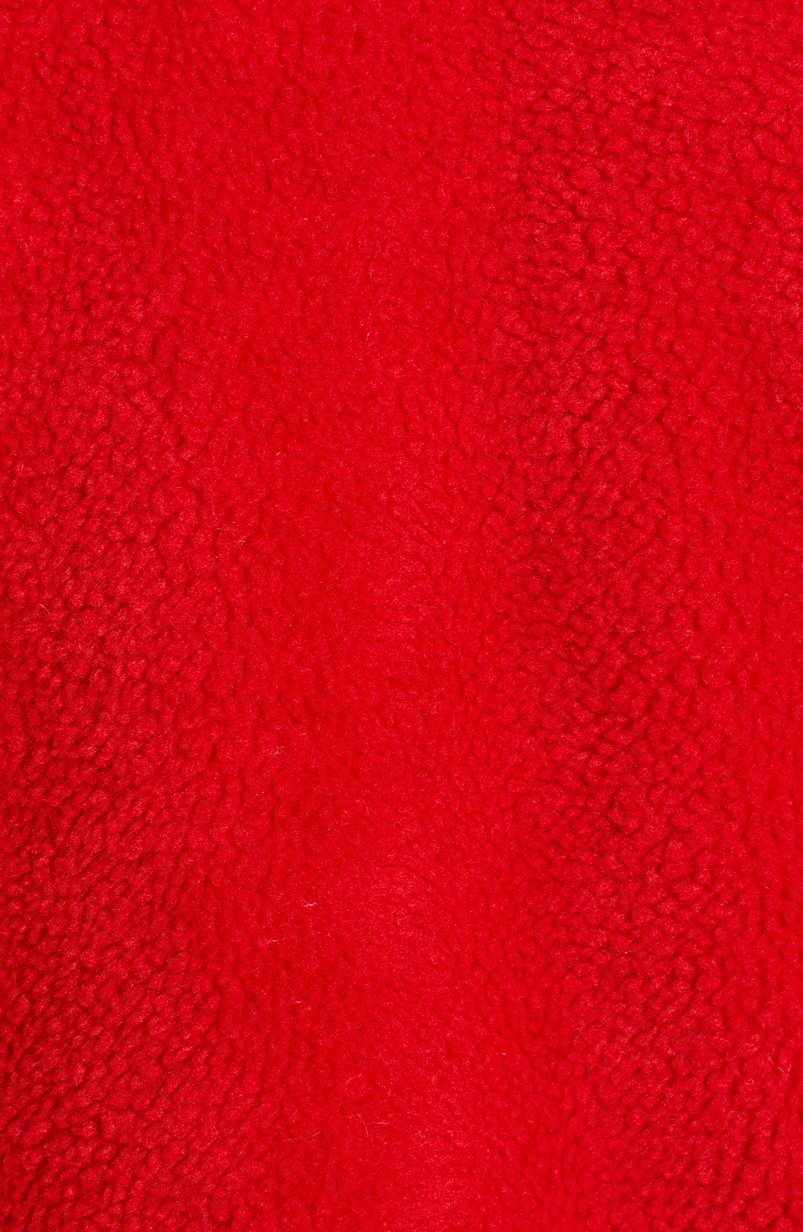 Oversized Fleece Jacket,                             Alternate thumbnail 7, color,                             RED