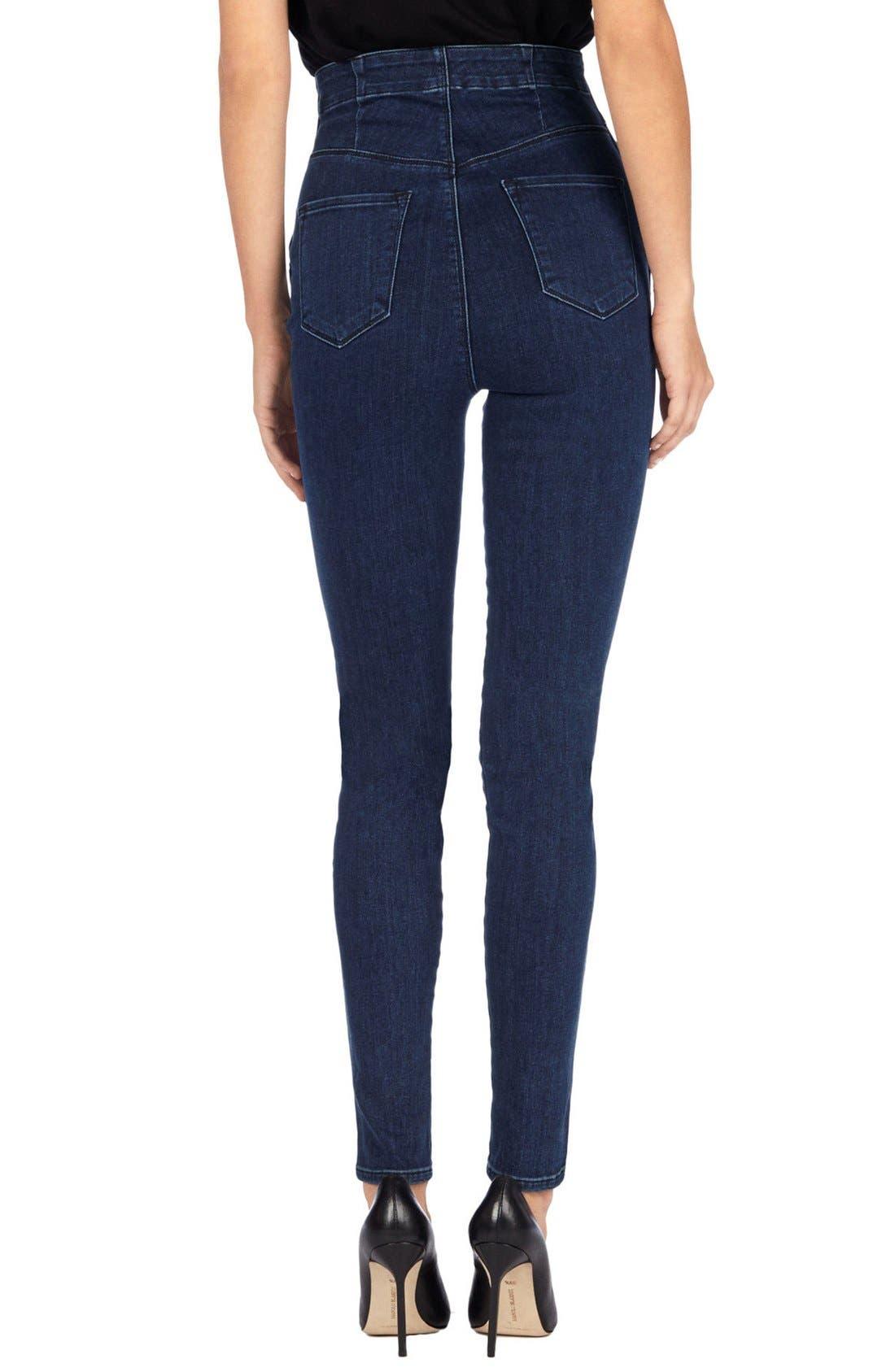 'Natasha Sky High' High Rise Skinny Jeans,                             Alternate thumbnail 3, color,                             410