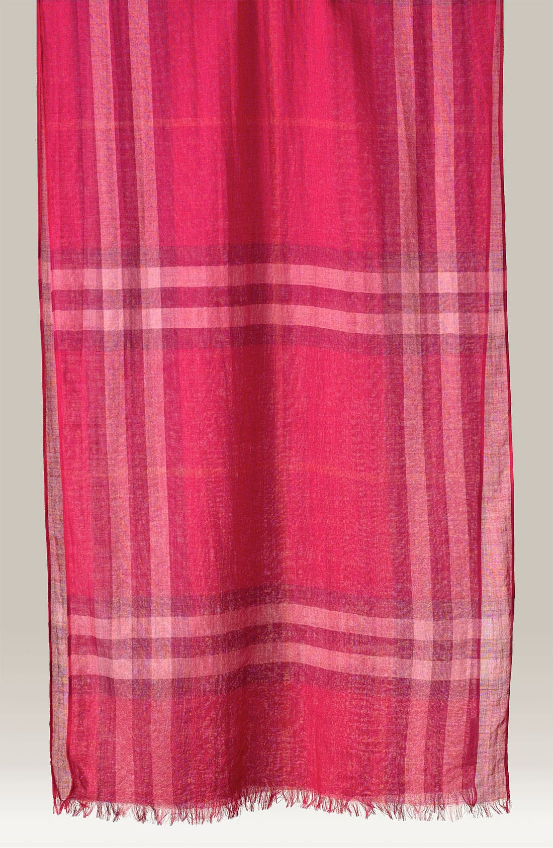 Giant Check Print Wool & Silk Scarf,                             Main thumbnail 66, color,