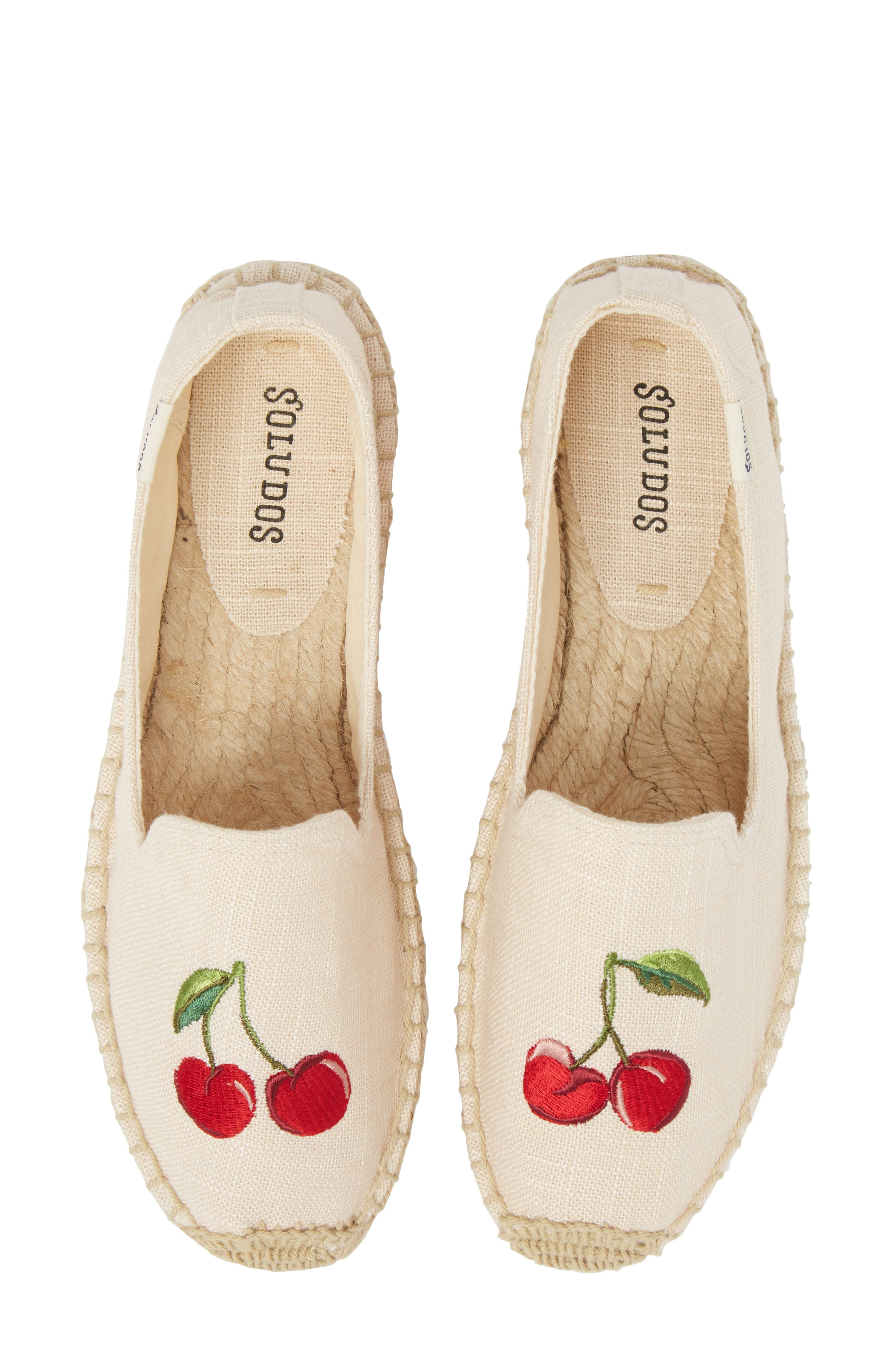 Cherries Embroidered Espadrille,                             Main thumbnail 1, color,                             680