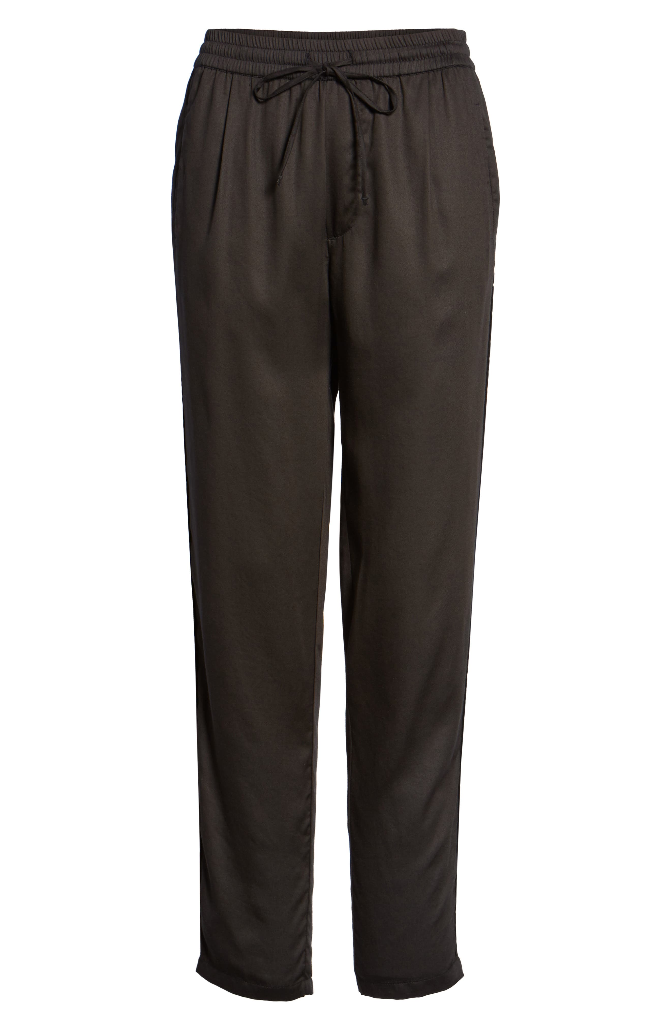 Savoy Satin Pants,                             Alternate thumbnail 6, color,                             001