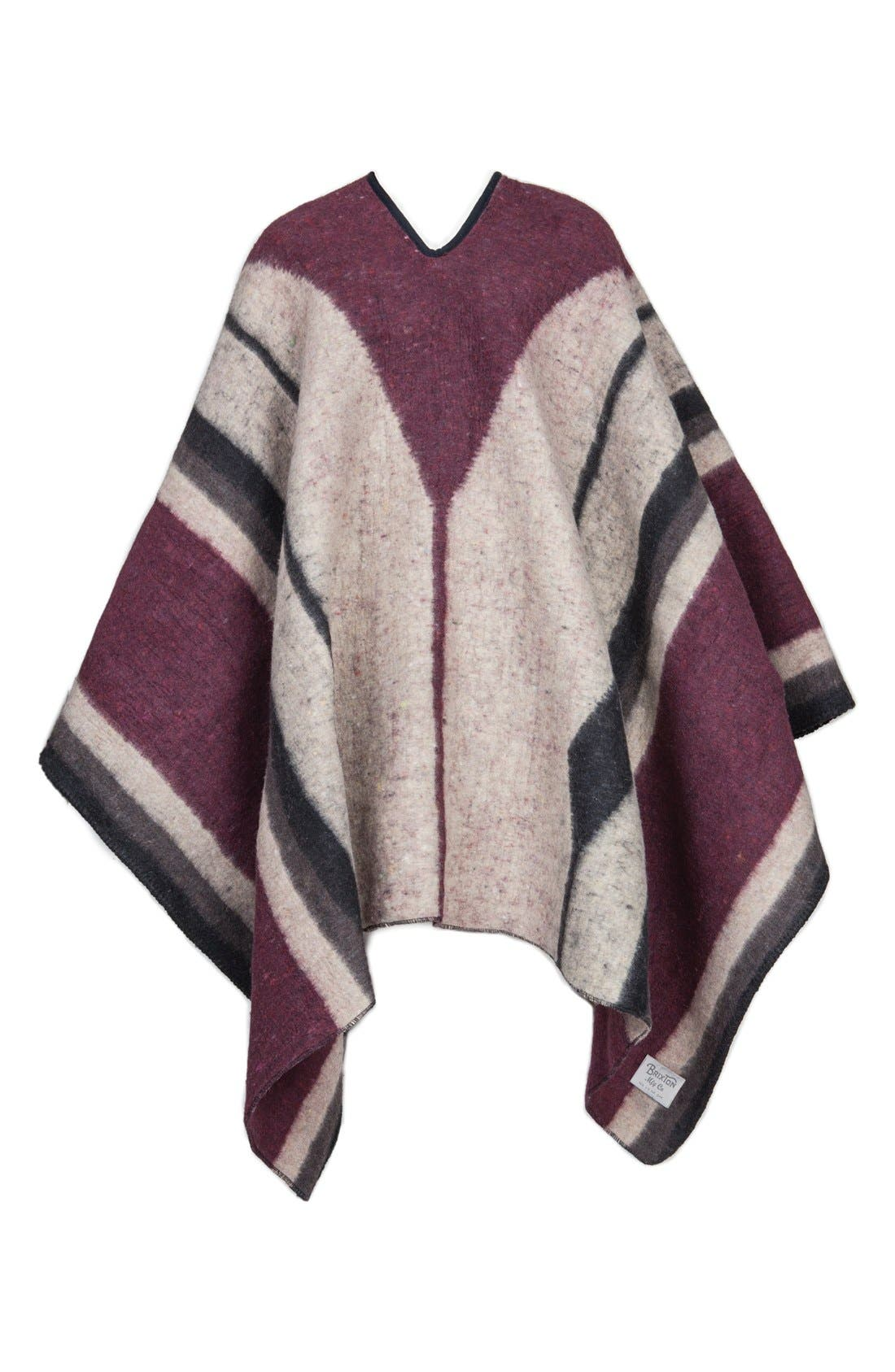 'Barry' Stripe Woven Poncho,                             Main thumbnail 1, color,                             139