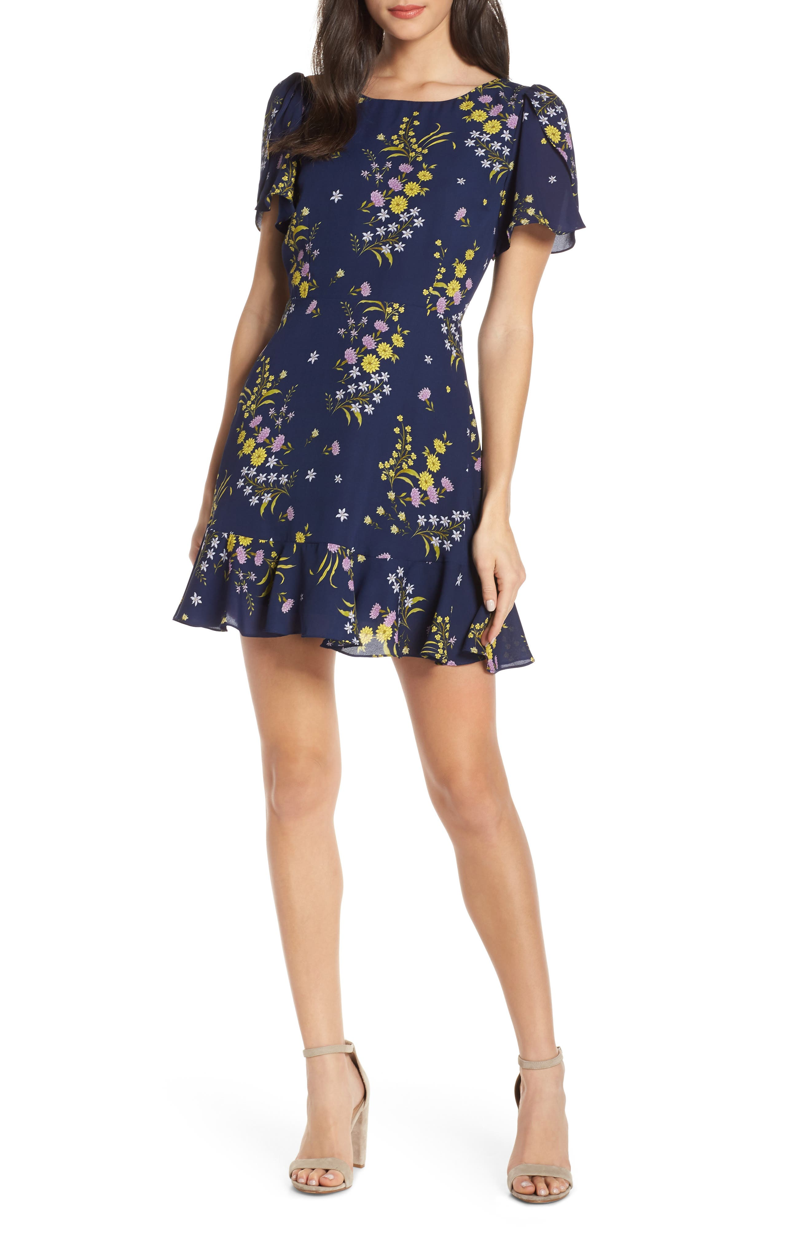 Bb Dakota Weekend Feels Floral Dress, Blue