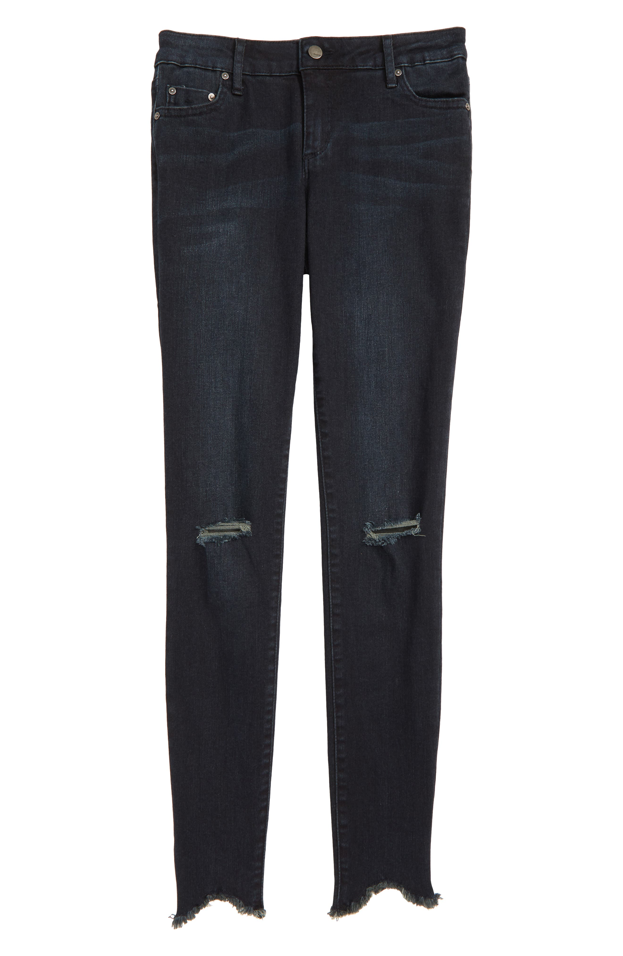 Distressed Skinny Jeans,                             Main thumbnail 1, color,                             INDIGO