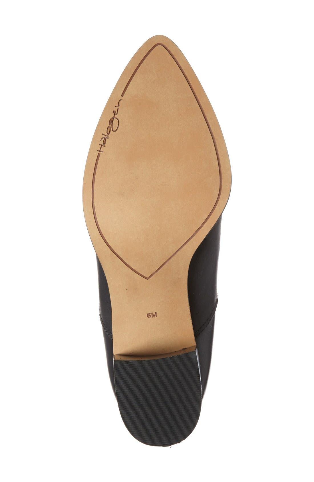 HALOGEN<SUP>®</SUP>,                             'Bailey' Pointy Toe Block Heel Bootie,                             Alternate thumbnail 3, color,                             001