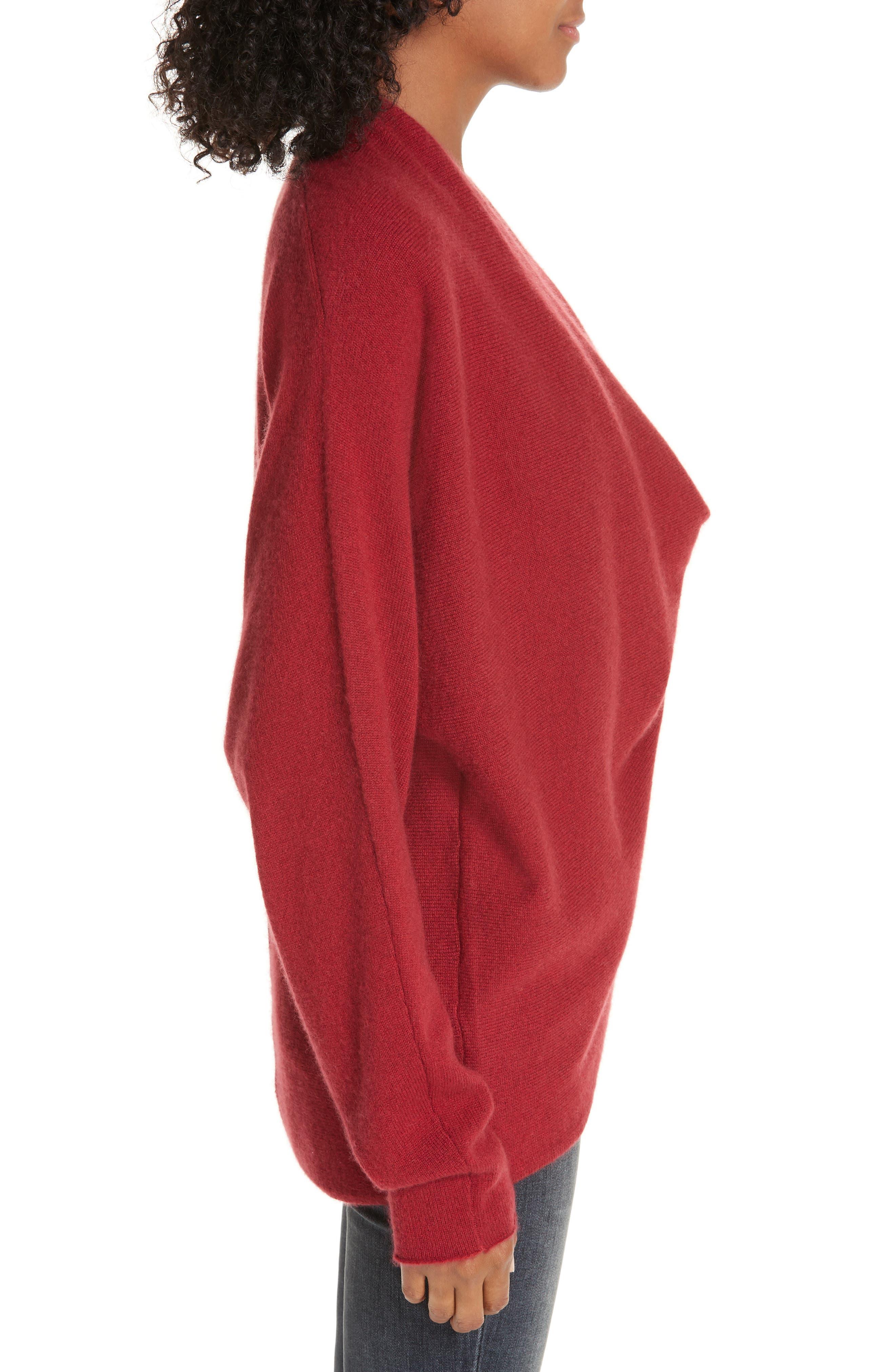 BROCHU WALKER,                             Clea Cashmere Wrap Sweater,                             Alternate thumbnail 3, color,                             TANGIER
