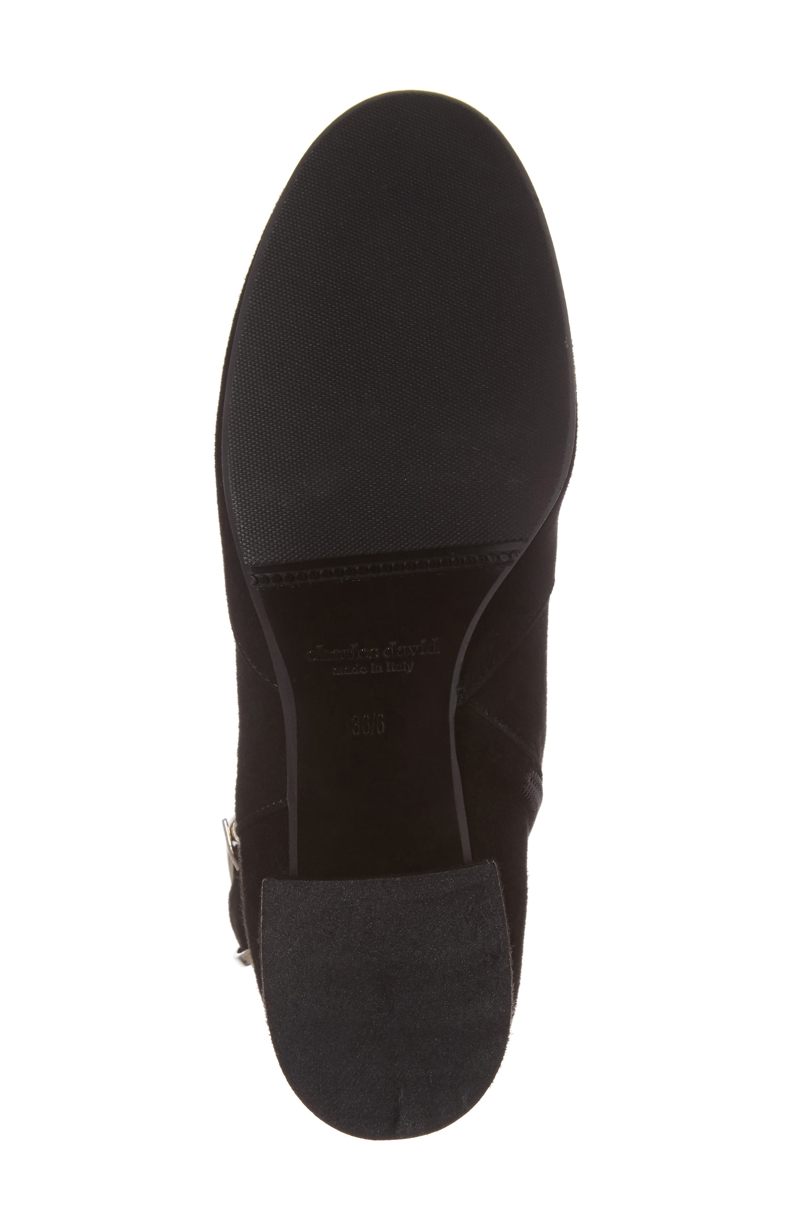 Maddie Buckle Strap Bootie,                             Alternate thumbnail 6, color,                             001