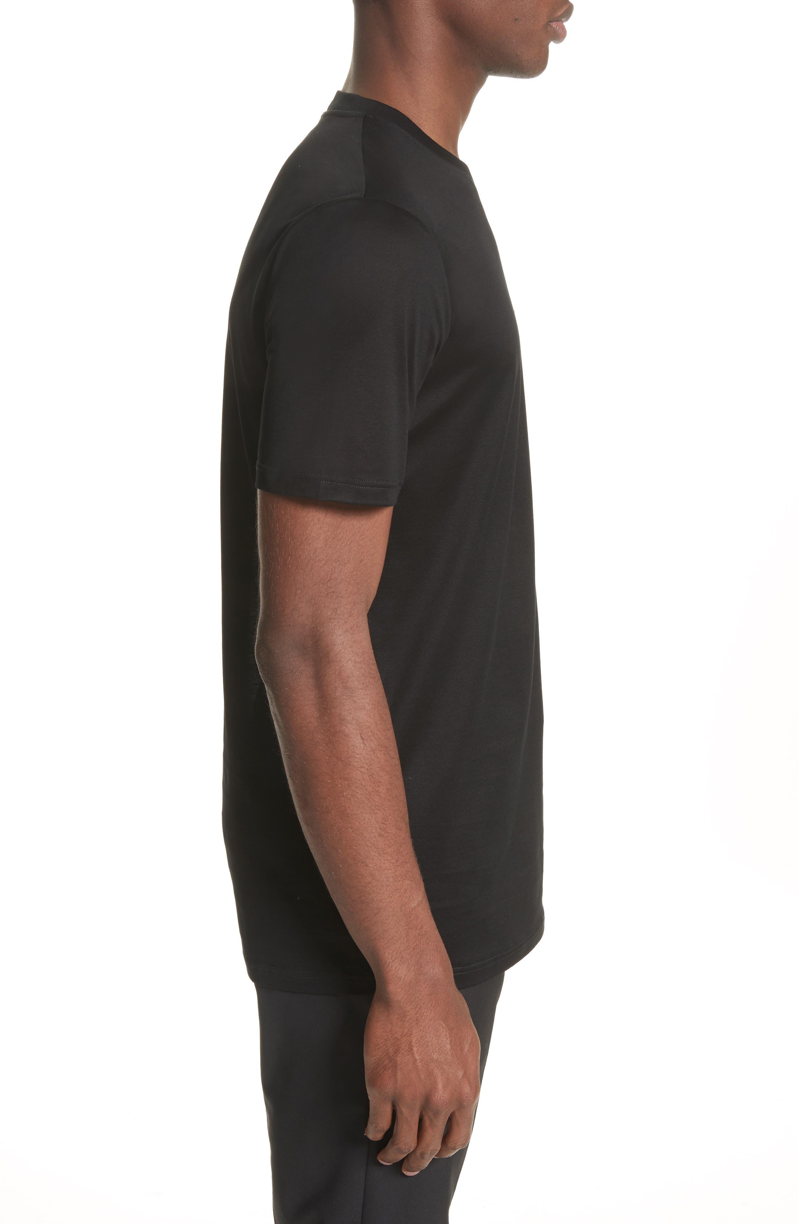 L Pocket T-Shirt,                             Alternate thumbnail 3, color,                             001