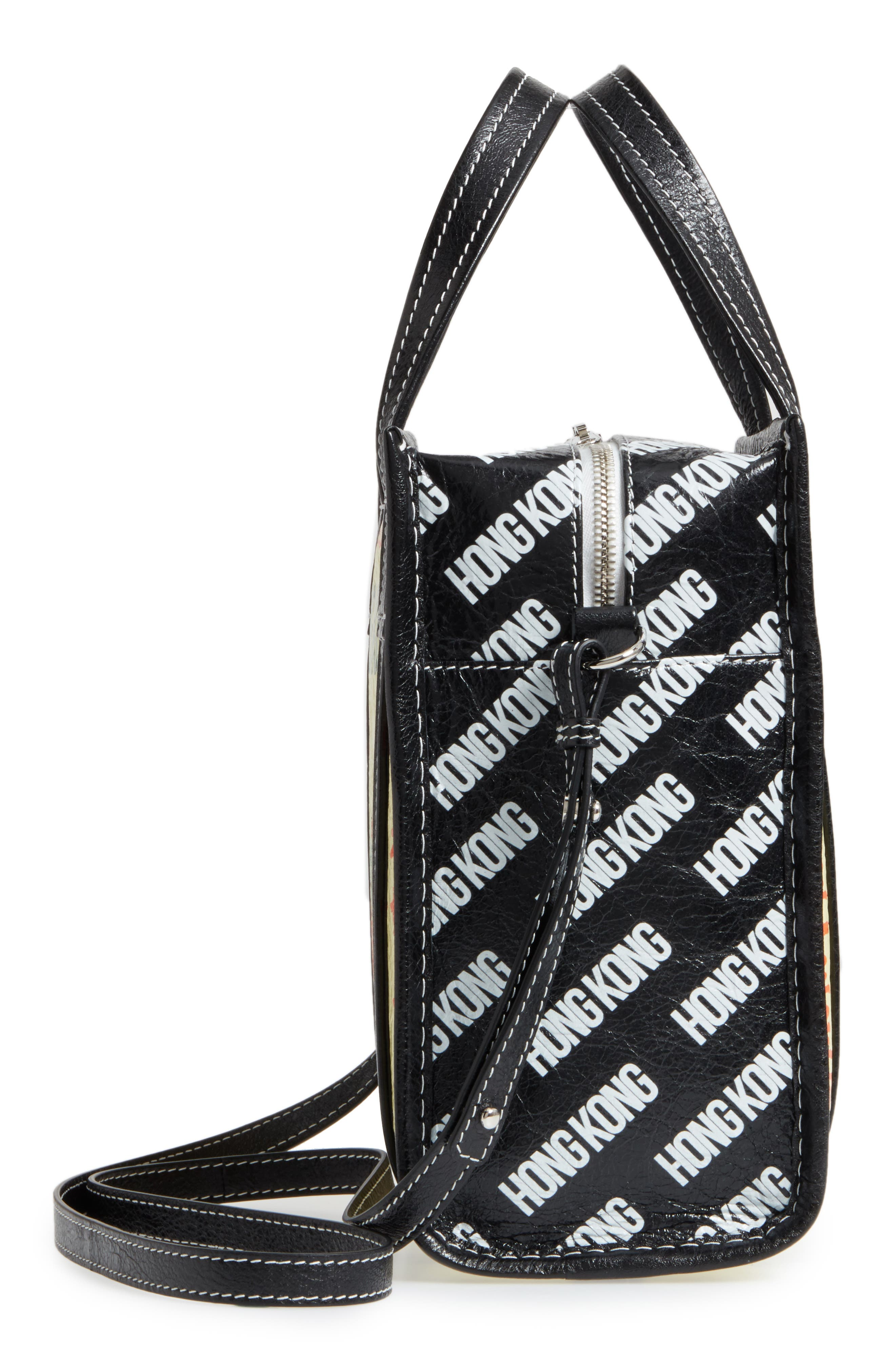 Extra Small Bazaar Leather Shopper,                             Alternate thumbnail 5, color,                             250