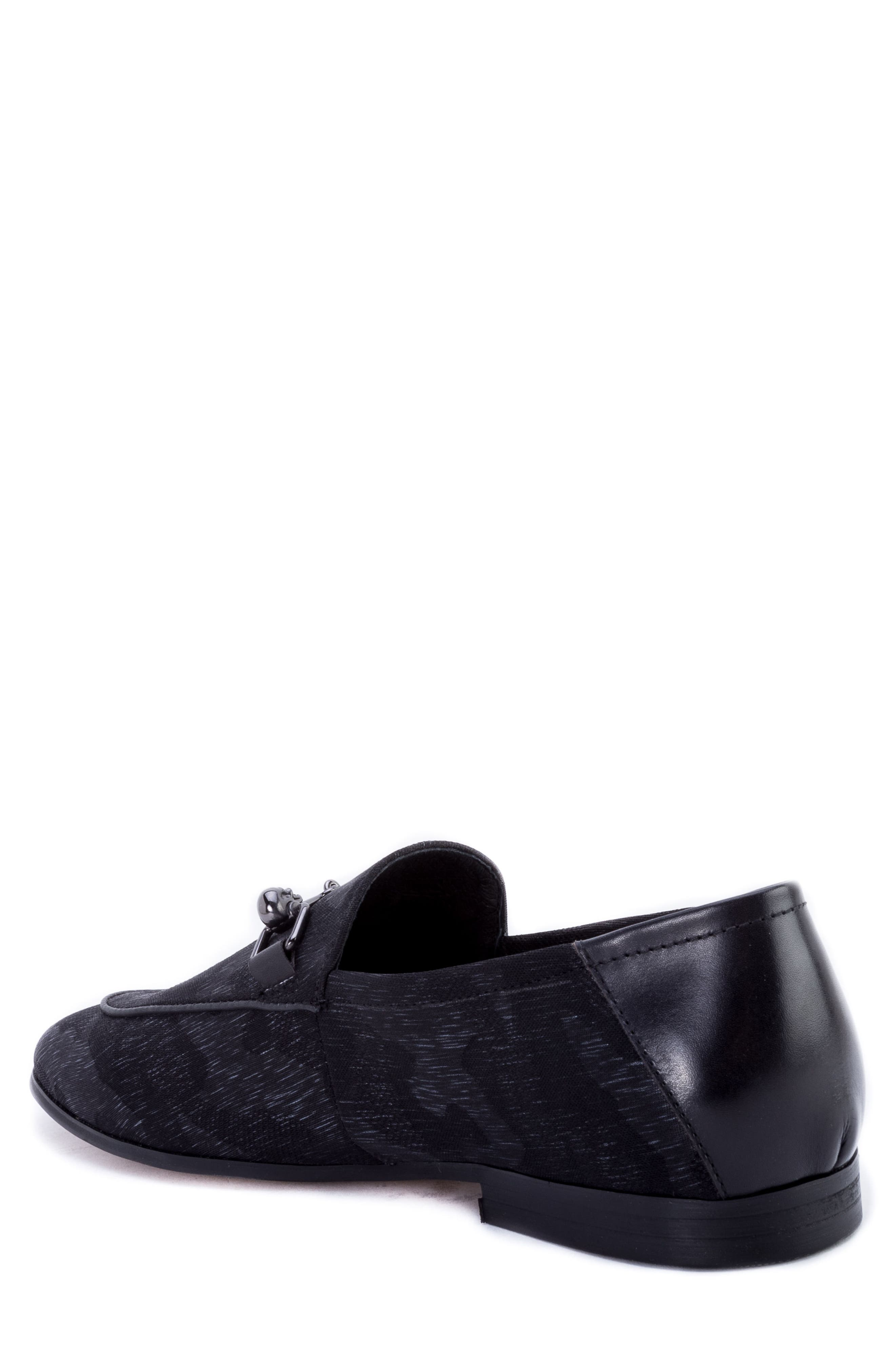 Barton Camouflage Bit Loafer,                             Alternate thumbnail 2, color,                             GREY FABRIC