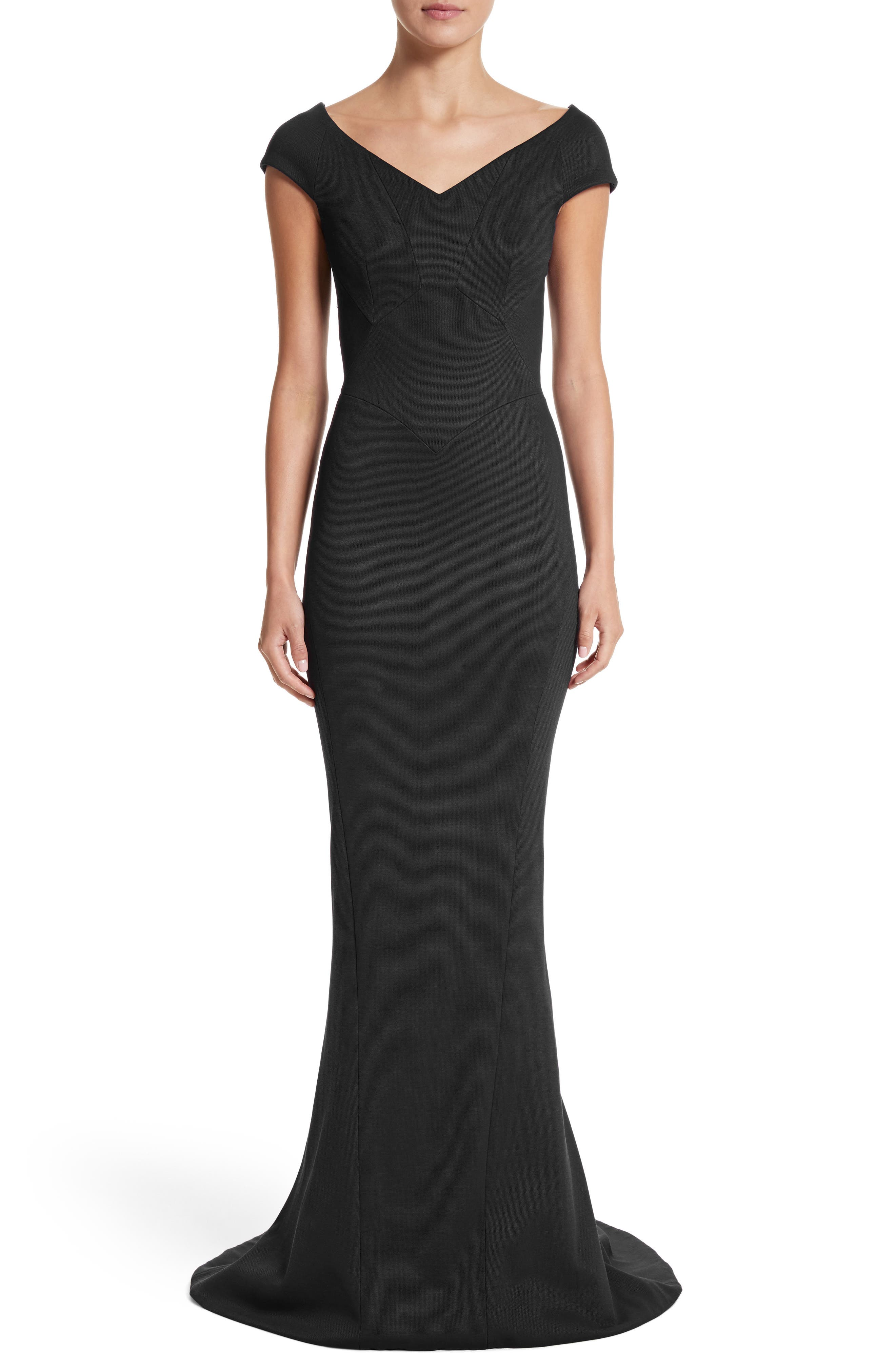 Bonded Jersey Mermaid Gown,                         Main,                         color,