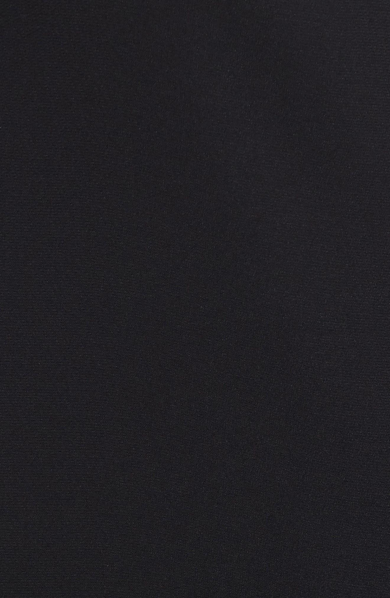 Choker Bell Sleeve Dress,                             Alternate thumbnail 5, color,                             001